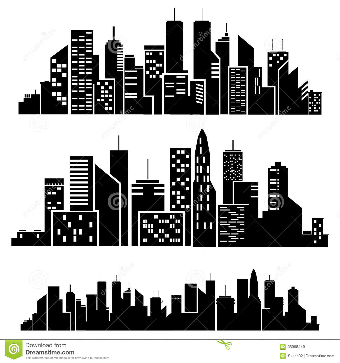 Vector Cities Silhouette Royalty Free Stock Images Image