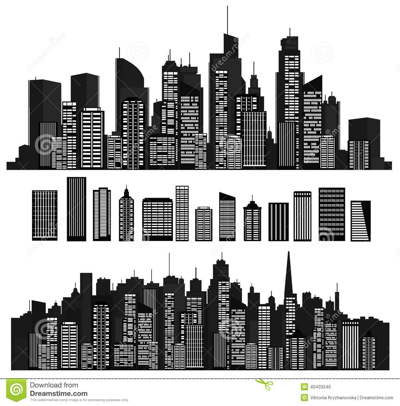 Black And White Cities Logos Designs