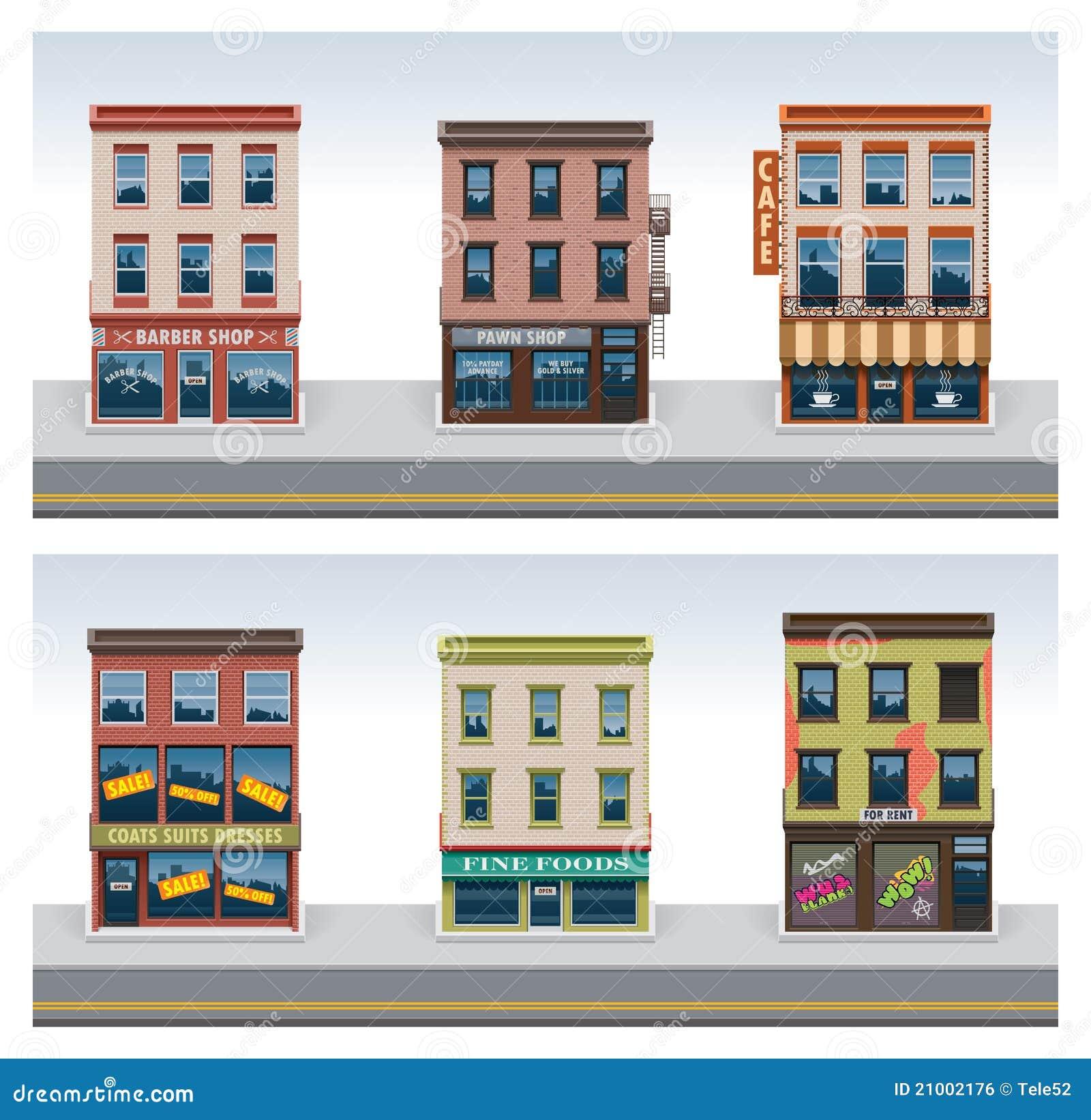 Fancy restaurant buildings clip art - Center
