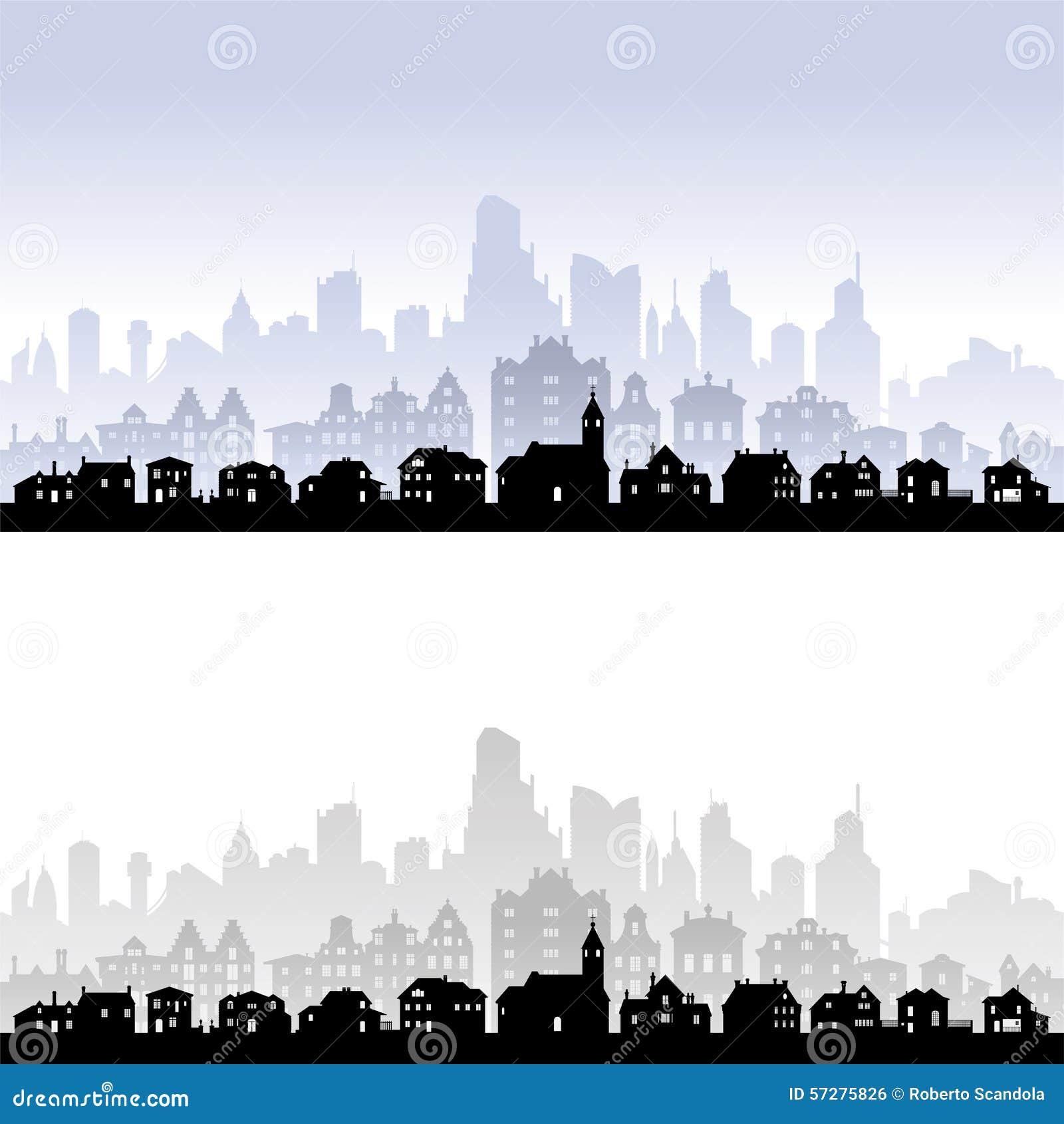 vector city skyline stock vector image 57275826