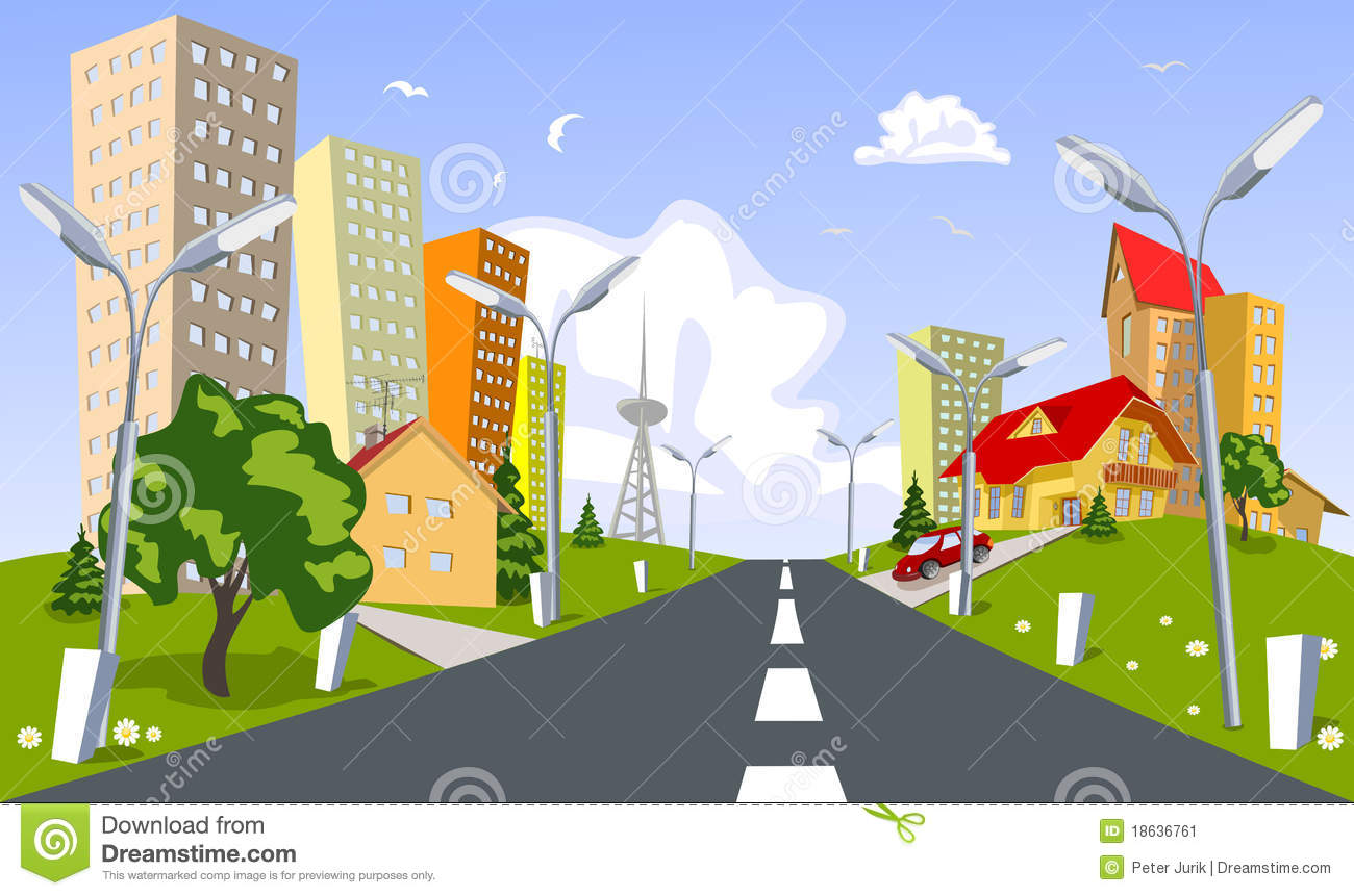Vector City Summer Stock Image Image 18636761