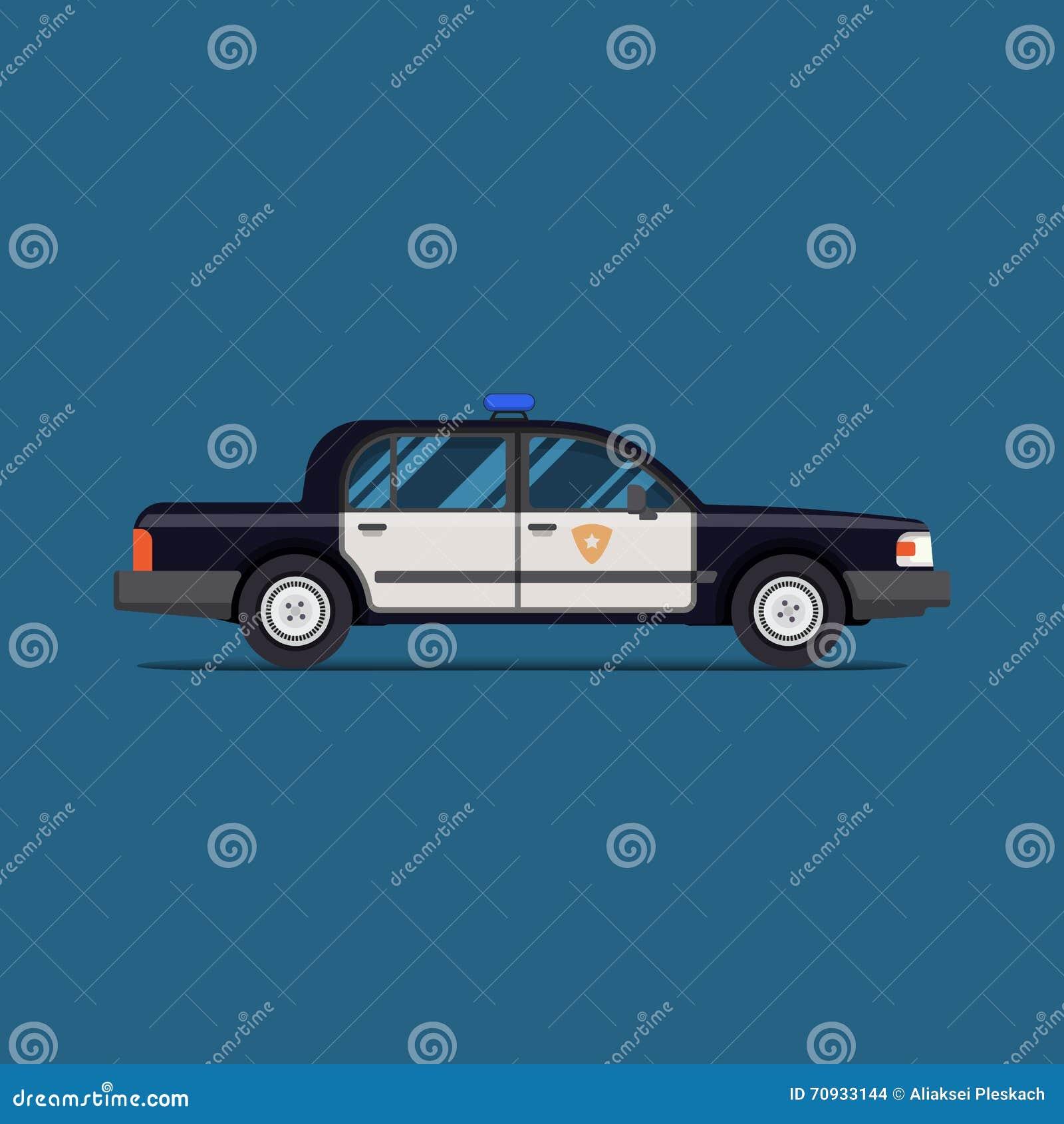 illustration of a car police interceptor vector illustration 80675694. Black Bedroom Furniture Sets. Home Design Ideas