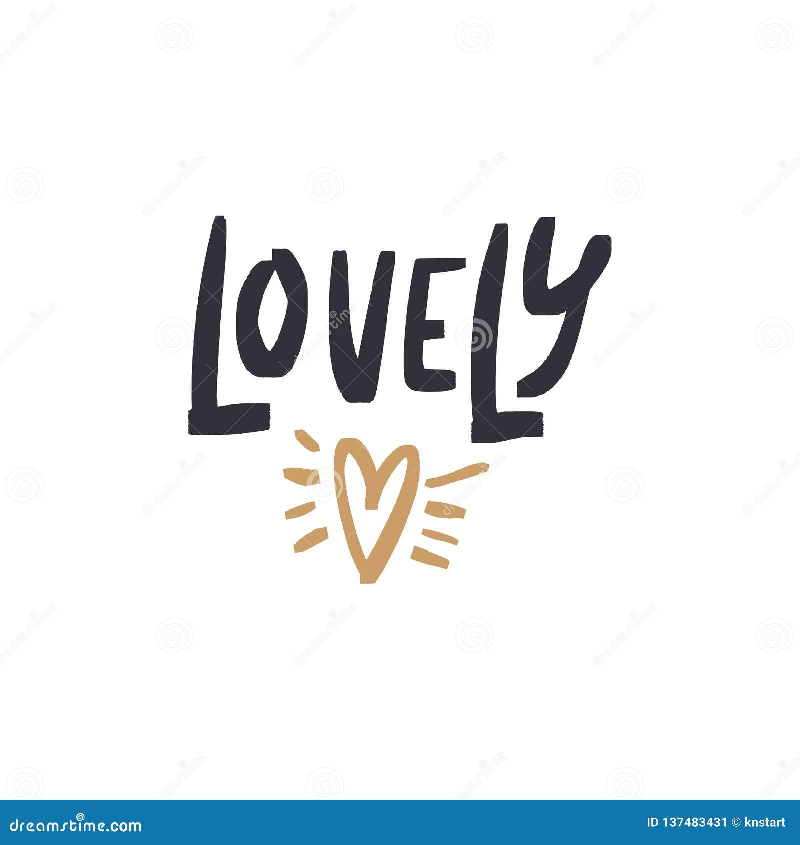 vector clip art hand drawn love lettering font boho