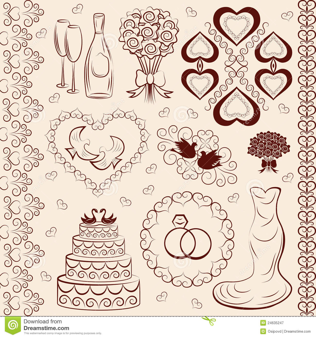 Vector clipart wedding wedding decorations stock vector download comp junglespirit Images