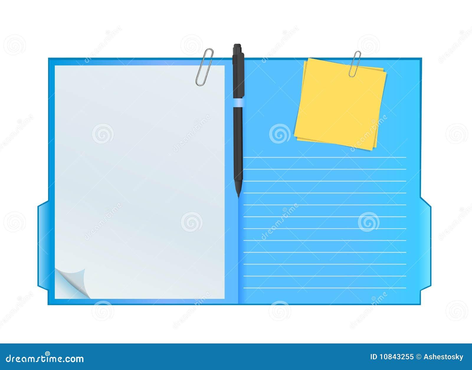 vector clipboard folder stock vector  image of post  notes