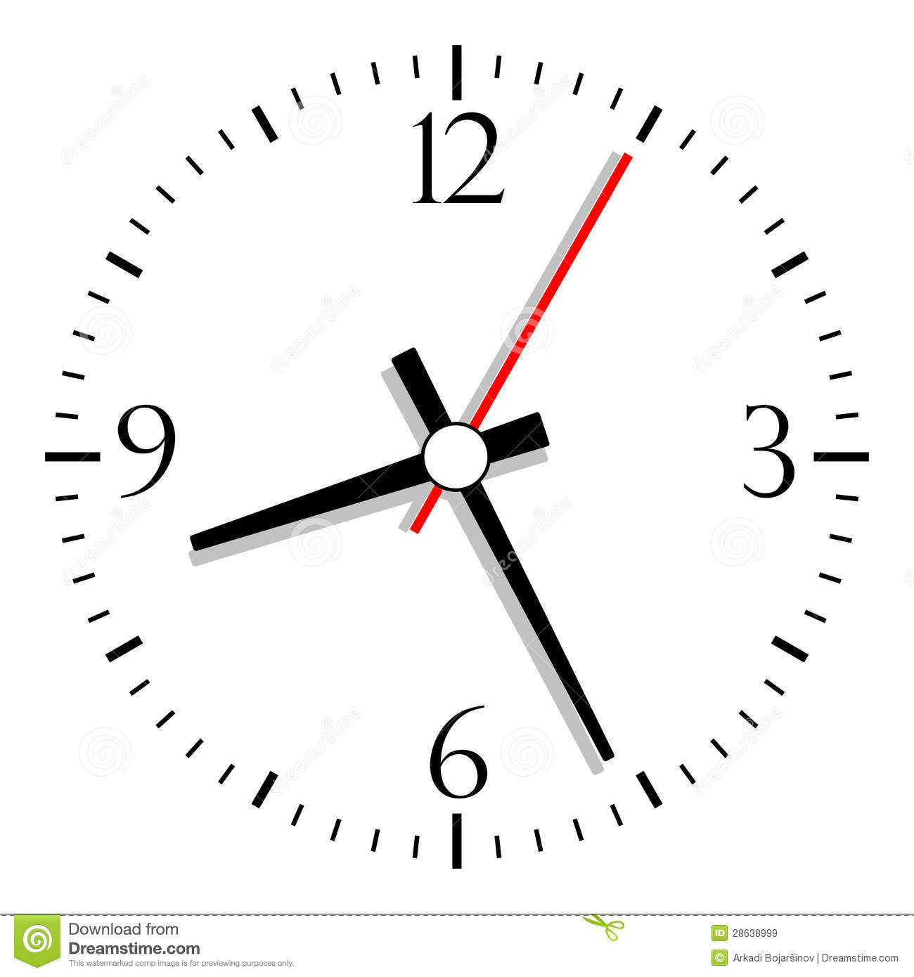 vector clock stock vector illustration of illustration 28638999 rh dreamstime com free vector clock hands free vector cocktail glasses