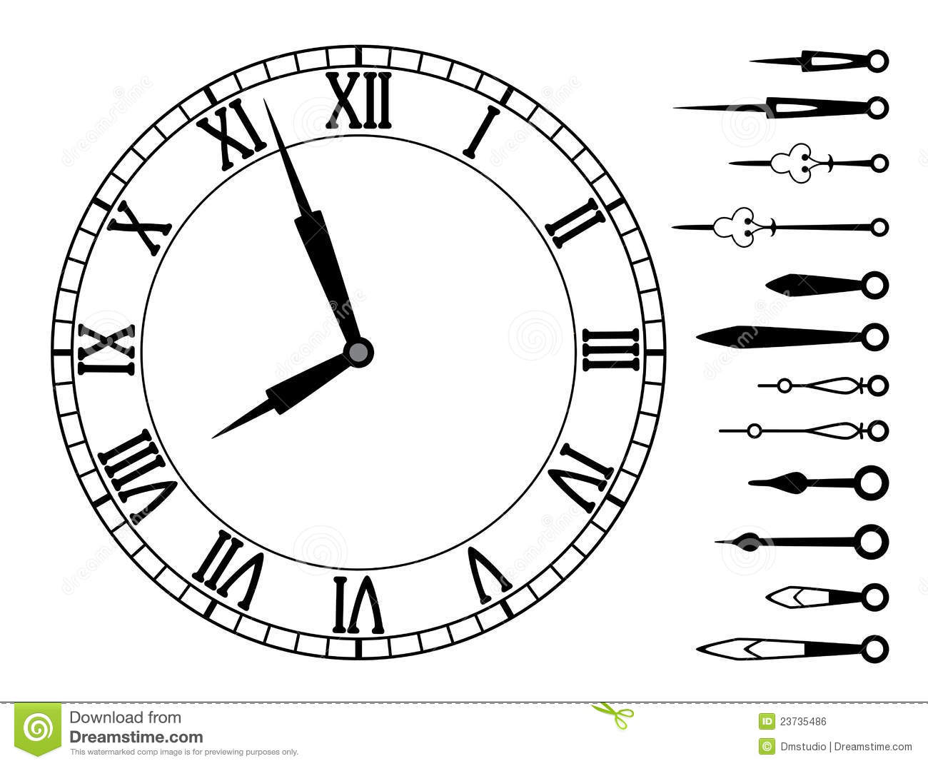 worksheet Clock Template With Hands vintage clock face template royalty free stock photography image vector and set of hands image