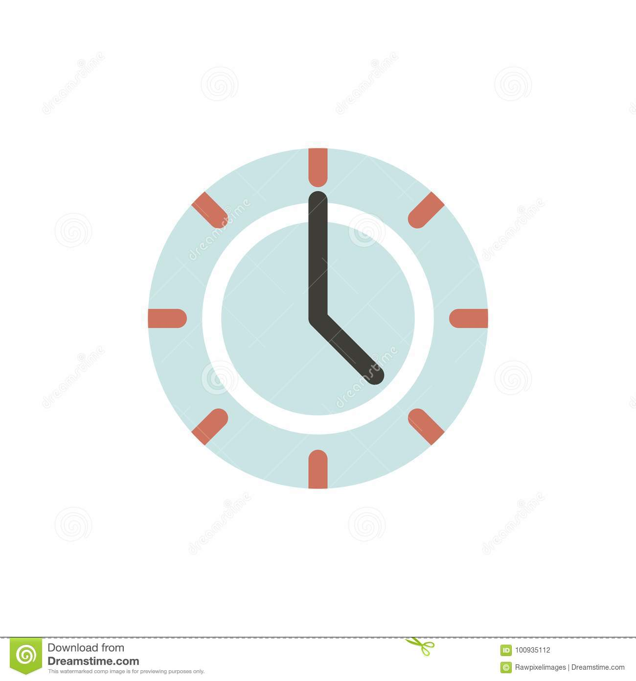 Vector of clock time icon