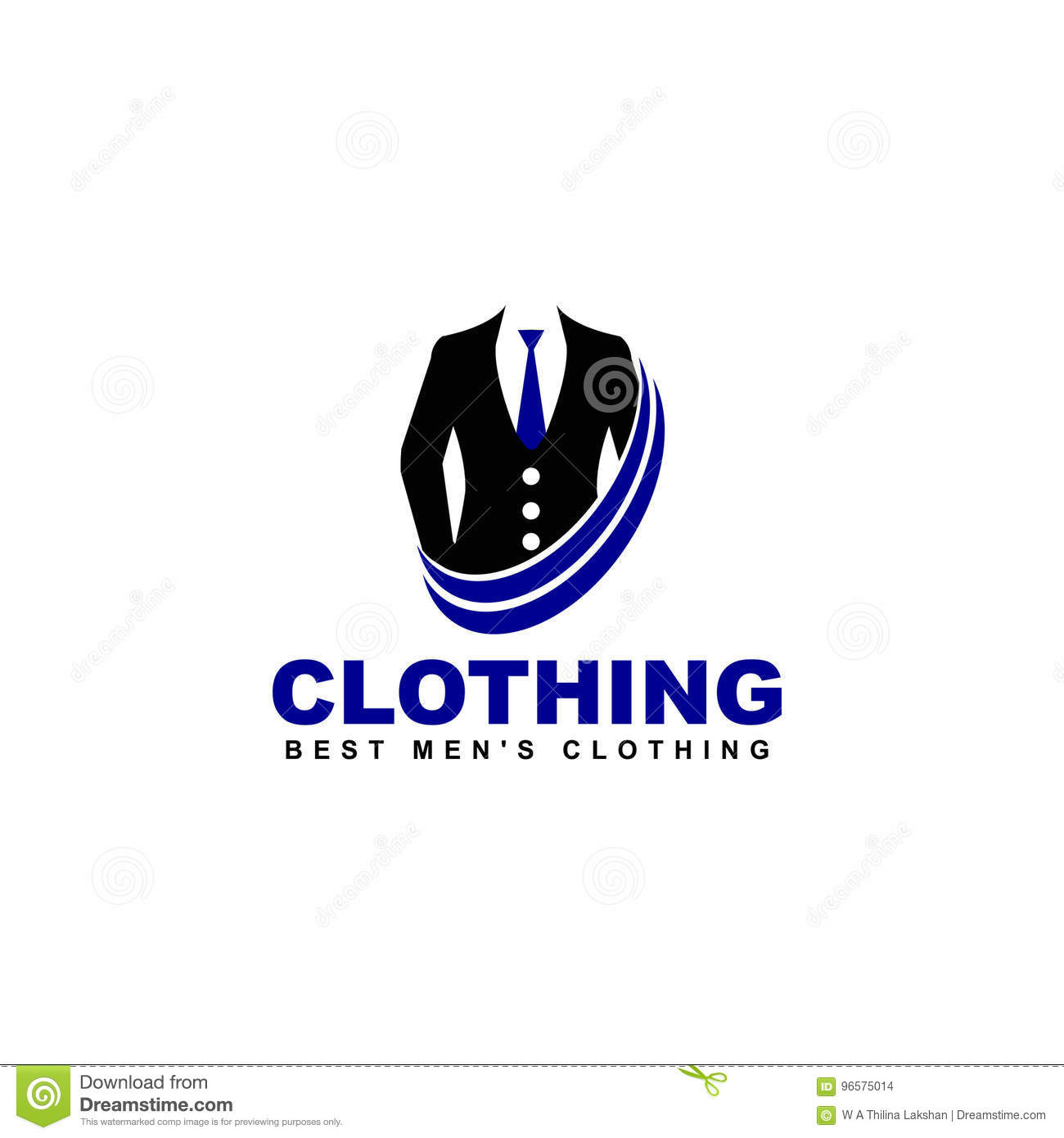 Vector Clothing Logo Online Shop Fashion Icon Stock Vector Illustration Of Line Display 96575014