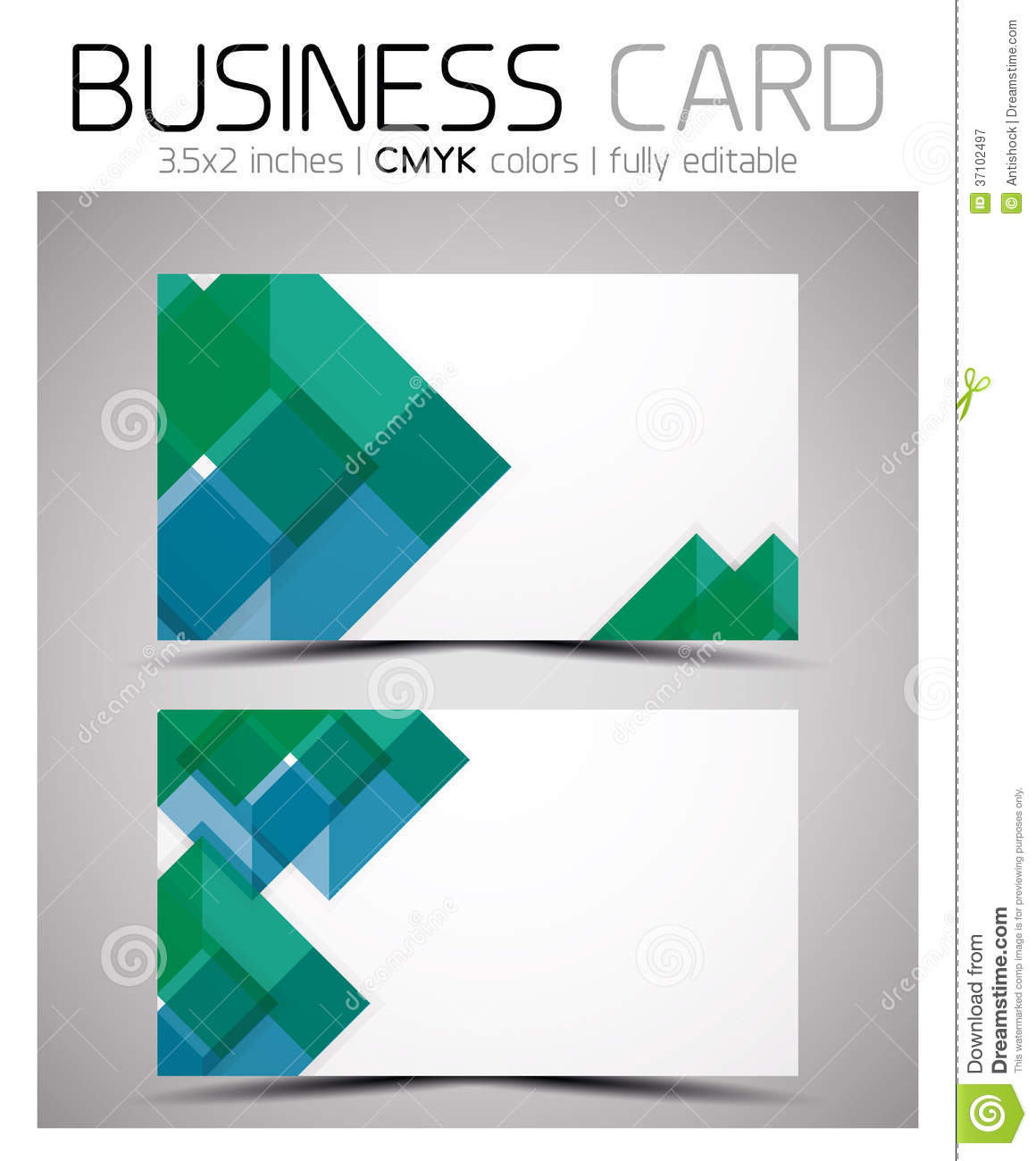 Vector CMYK Business Card Design Template Royalty Free Stock ...