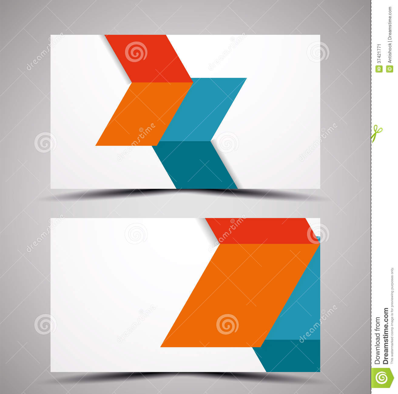 Vector CMYK Business Card Design Template Stock Image - Image ...