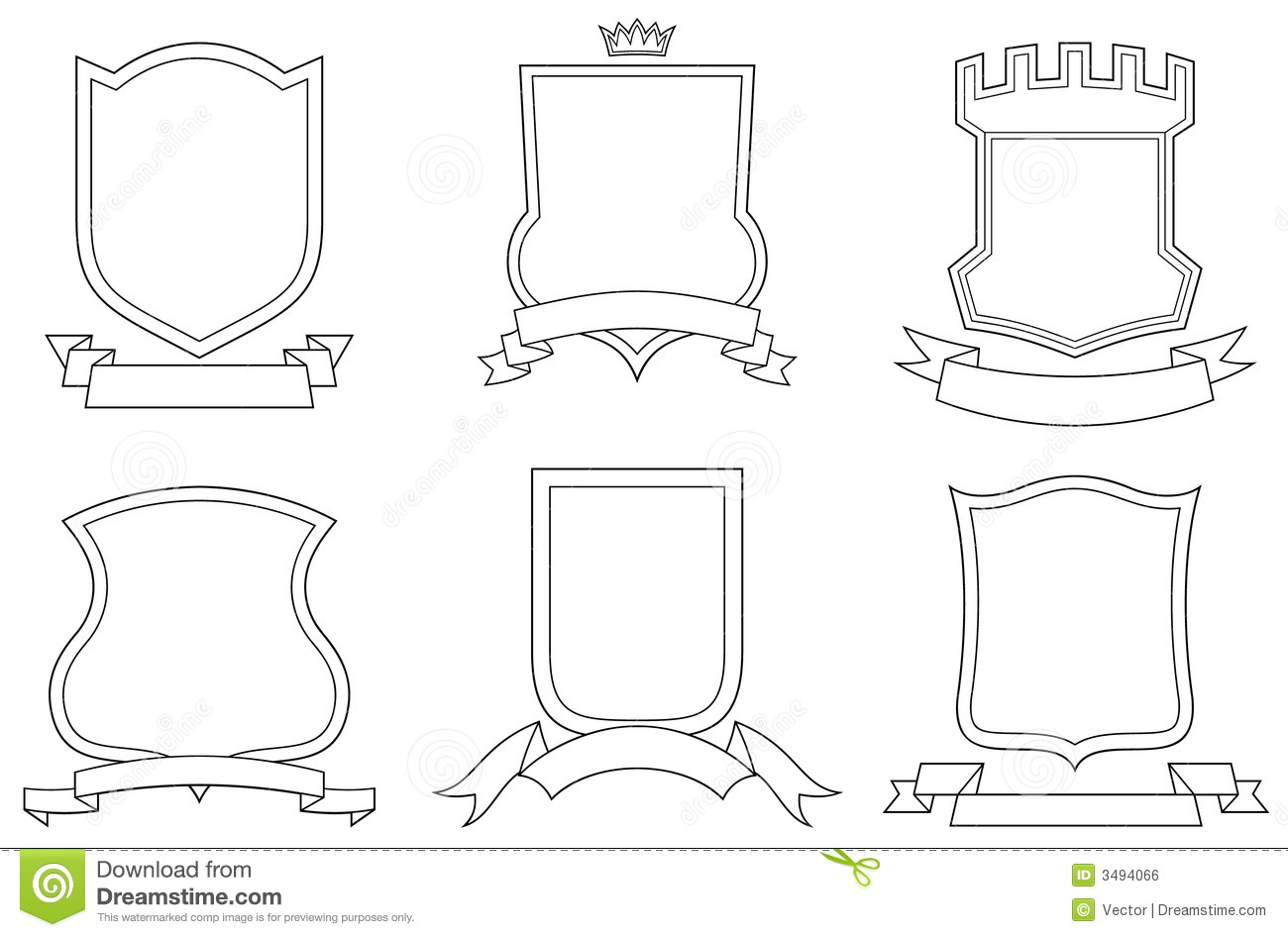 Vector Coats Of Arms Stock Vector Illustration Of