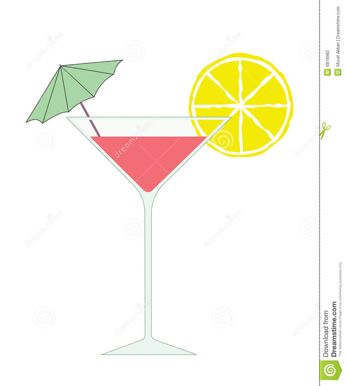 Vector Cocktail Stock Photography - Image: 6816982