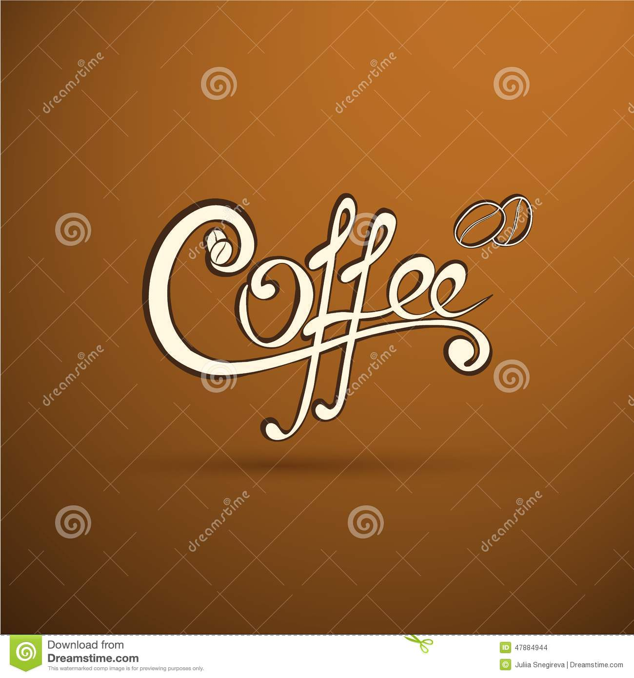 Vector Coffee Label With Calligraphy For Your Logo Stock