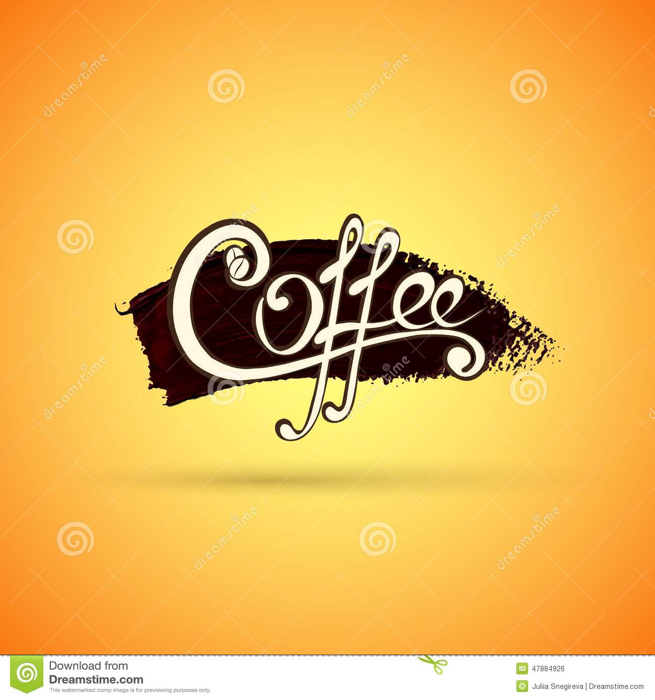 Vector Coffee Label For Your Logo Stock Illustration