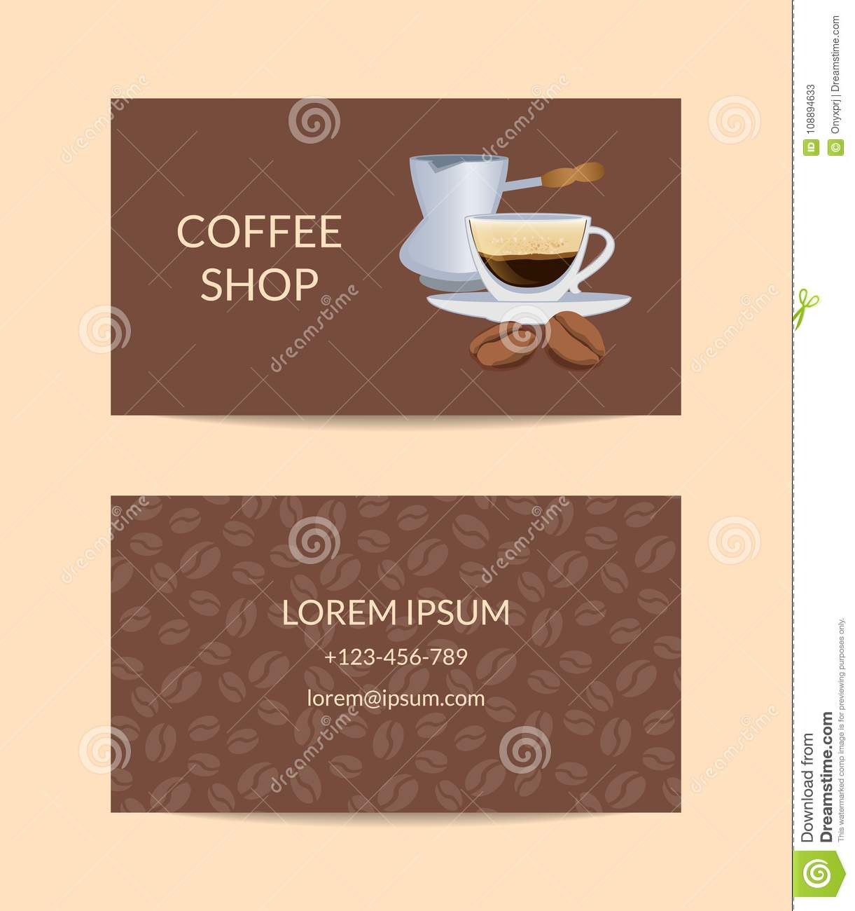 Vector coffee shop or company business card template stock vector vector coffee shop or company business card template royalty free vector cheaphphosting Choice Image