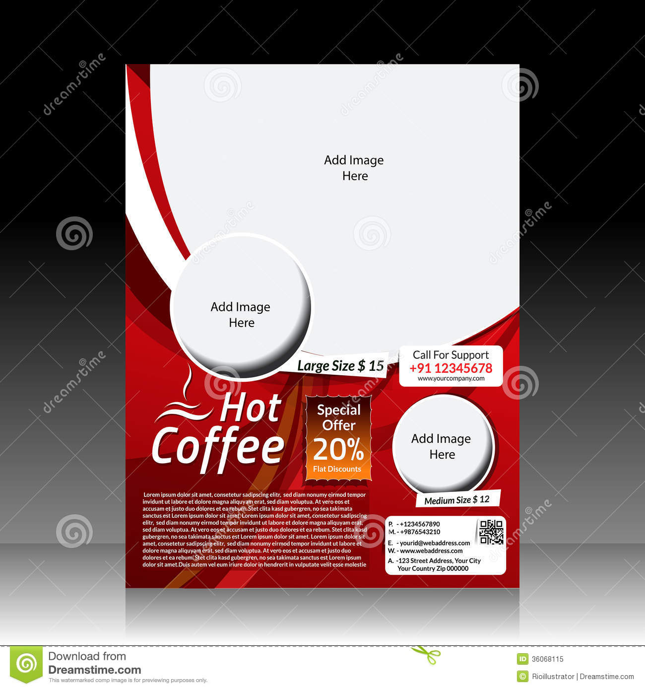 Restaurant Flyer Design Vector : Vector coffee shop flyer royalty free stock photo image