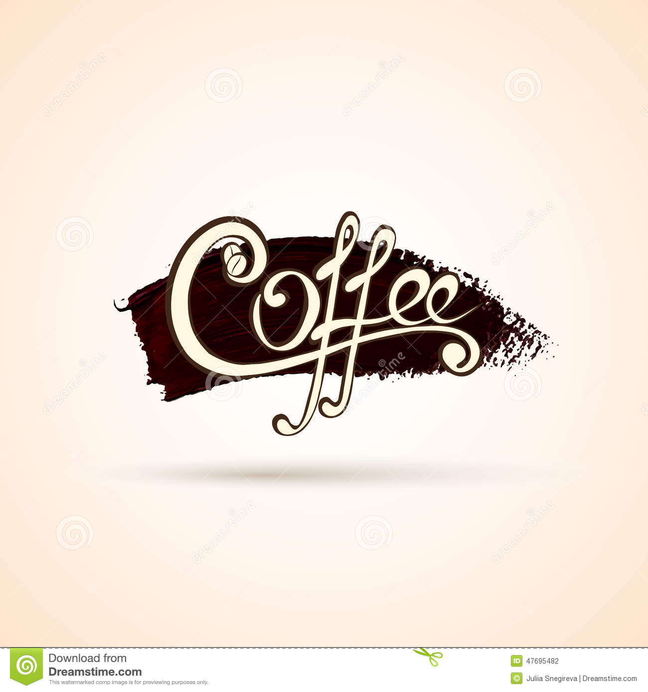 Vector Coffee Shop Labels With Calligraphy Stock Vector