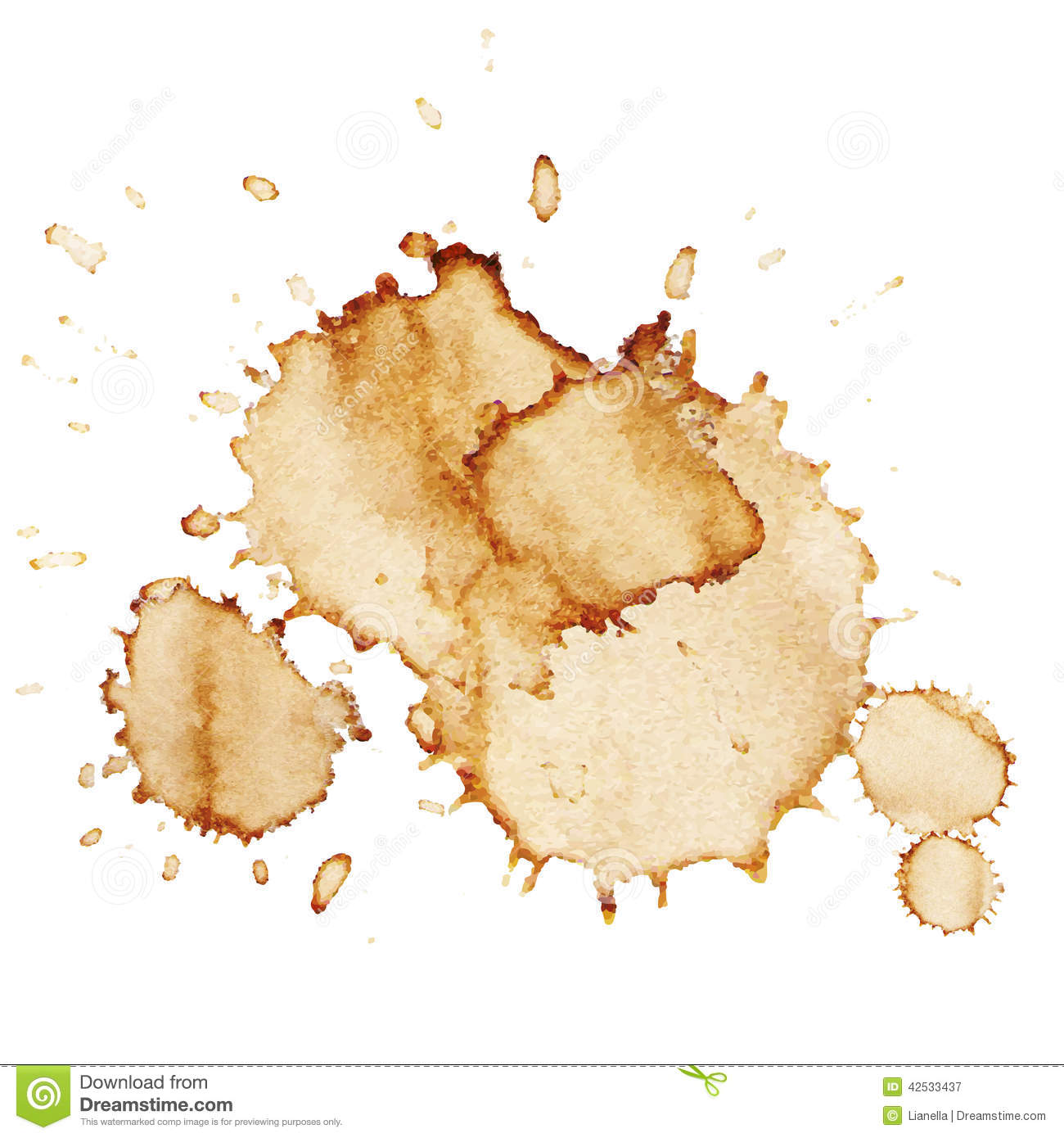 Vector Coffee Stains Stock Vector Image 42533437