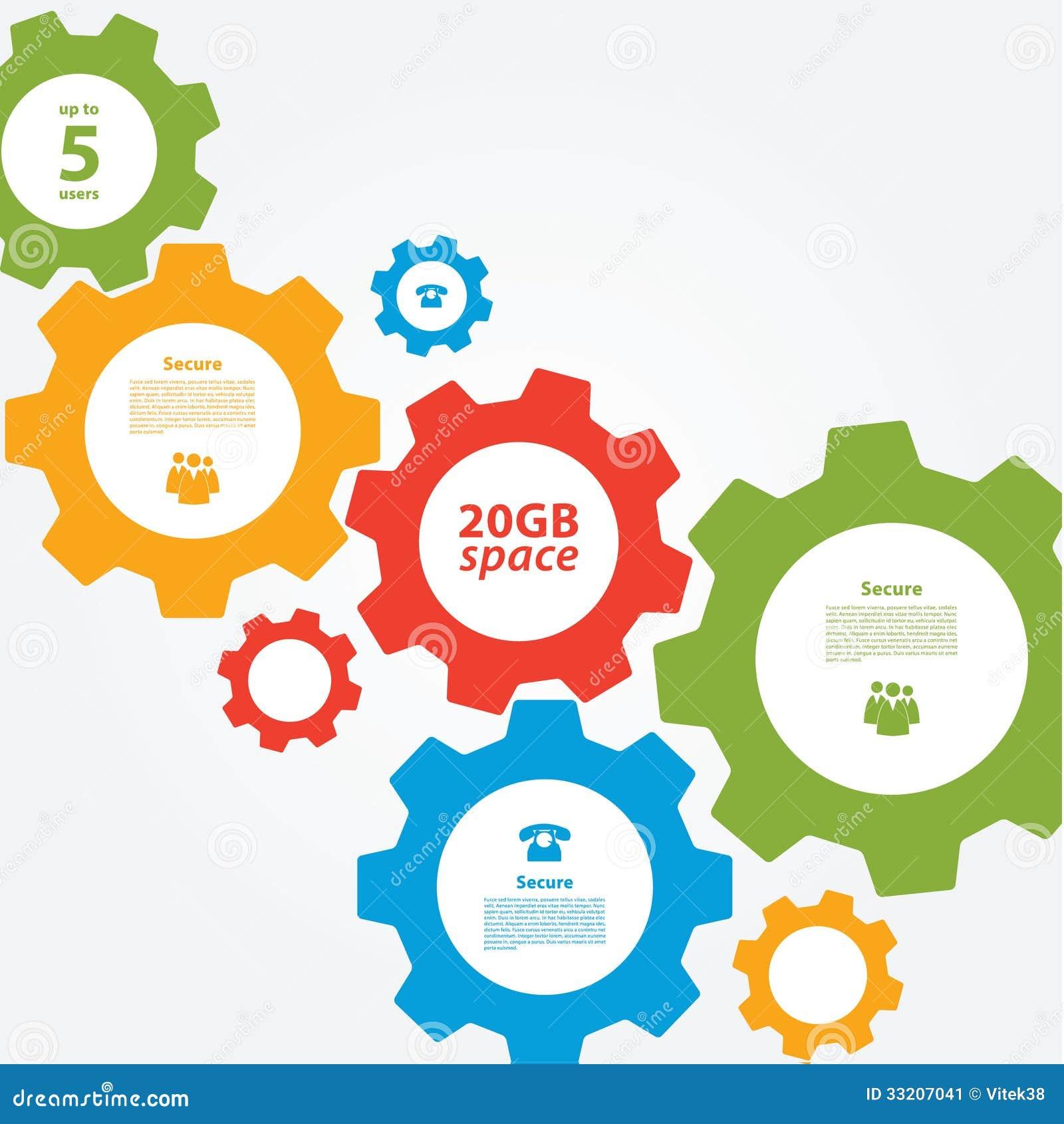 Vector Cogwheel Template Cogwheel Connection Teamwork