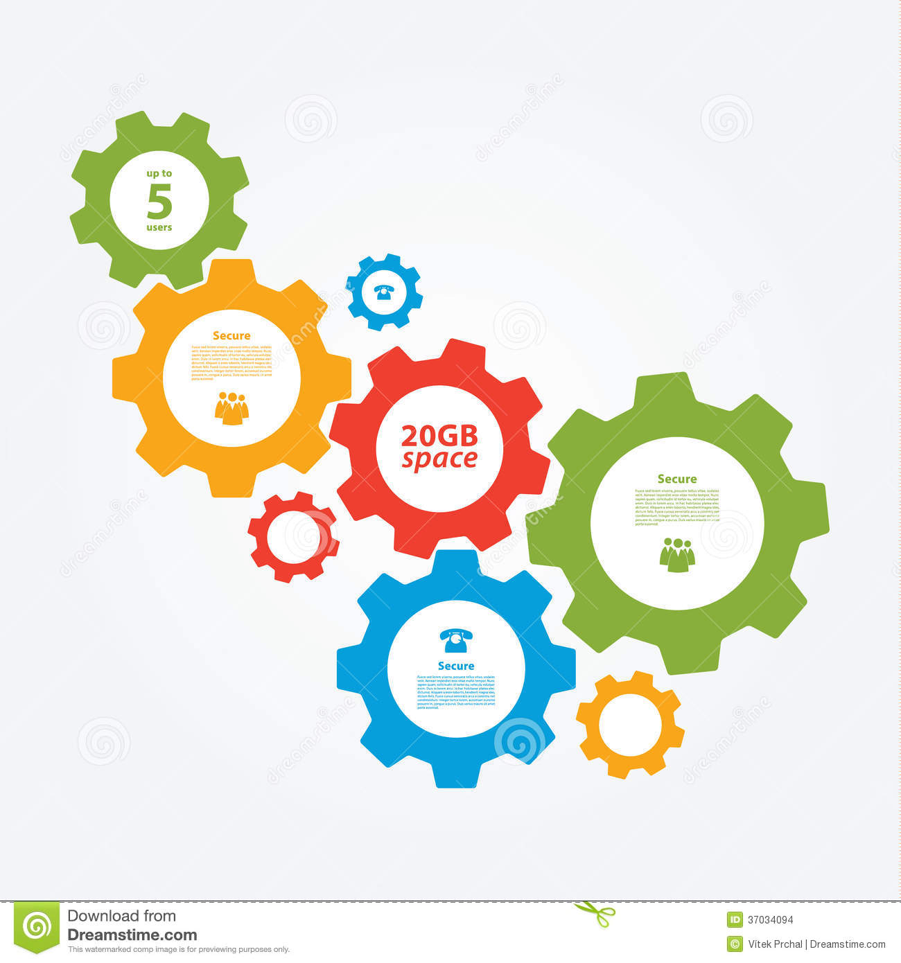 Vector Cogwheel Template. Cogwheel Connection, Teamwork. Stock ...