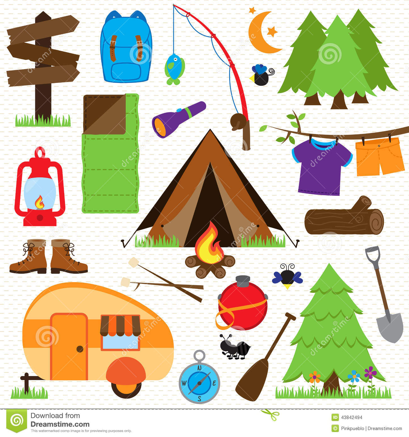 Vector Collection Of Camping And Outdoors Themed Images ...