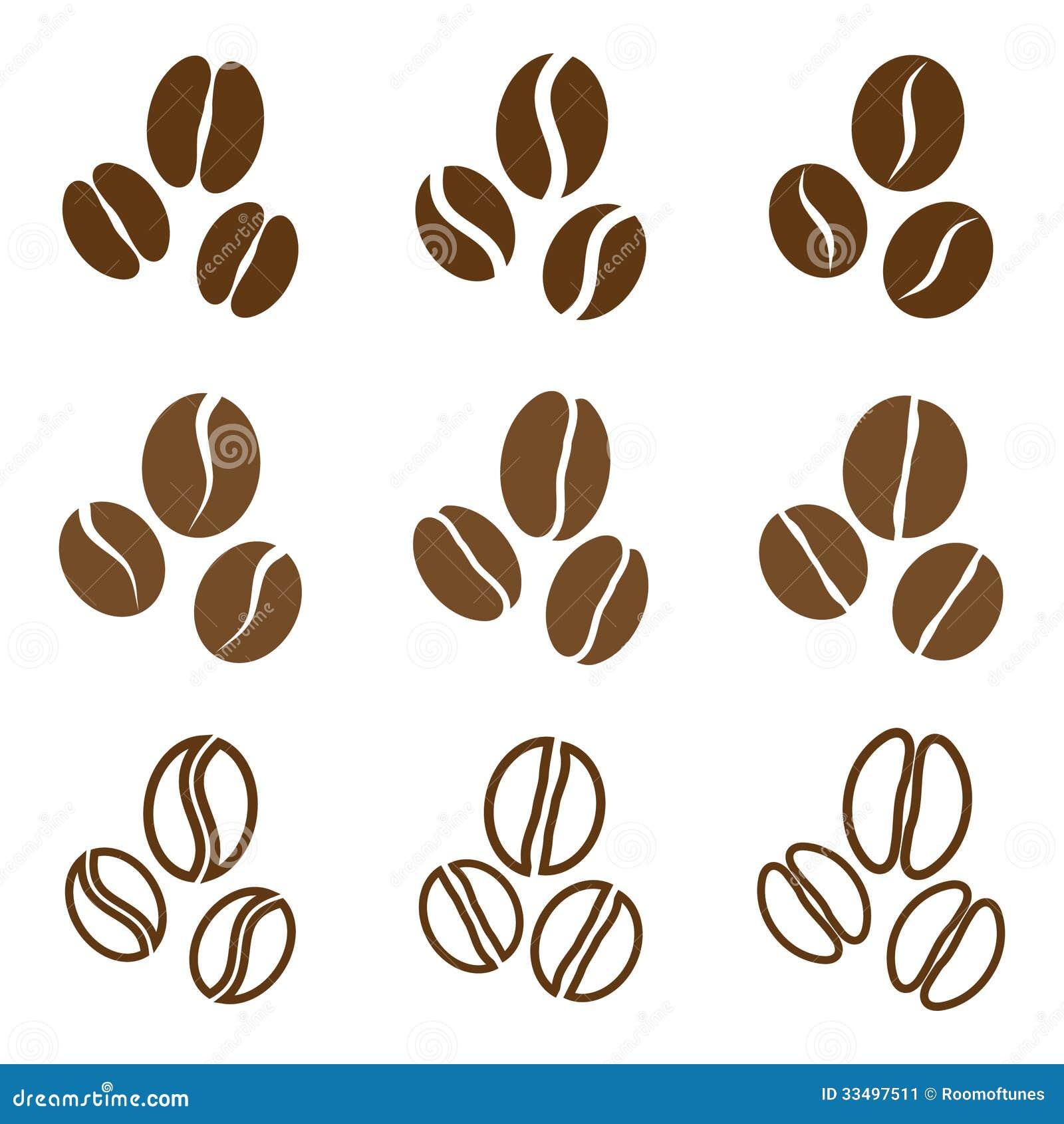 Кофейное зерно вектор