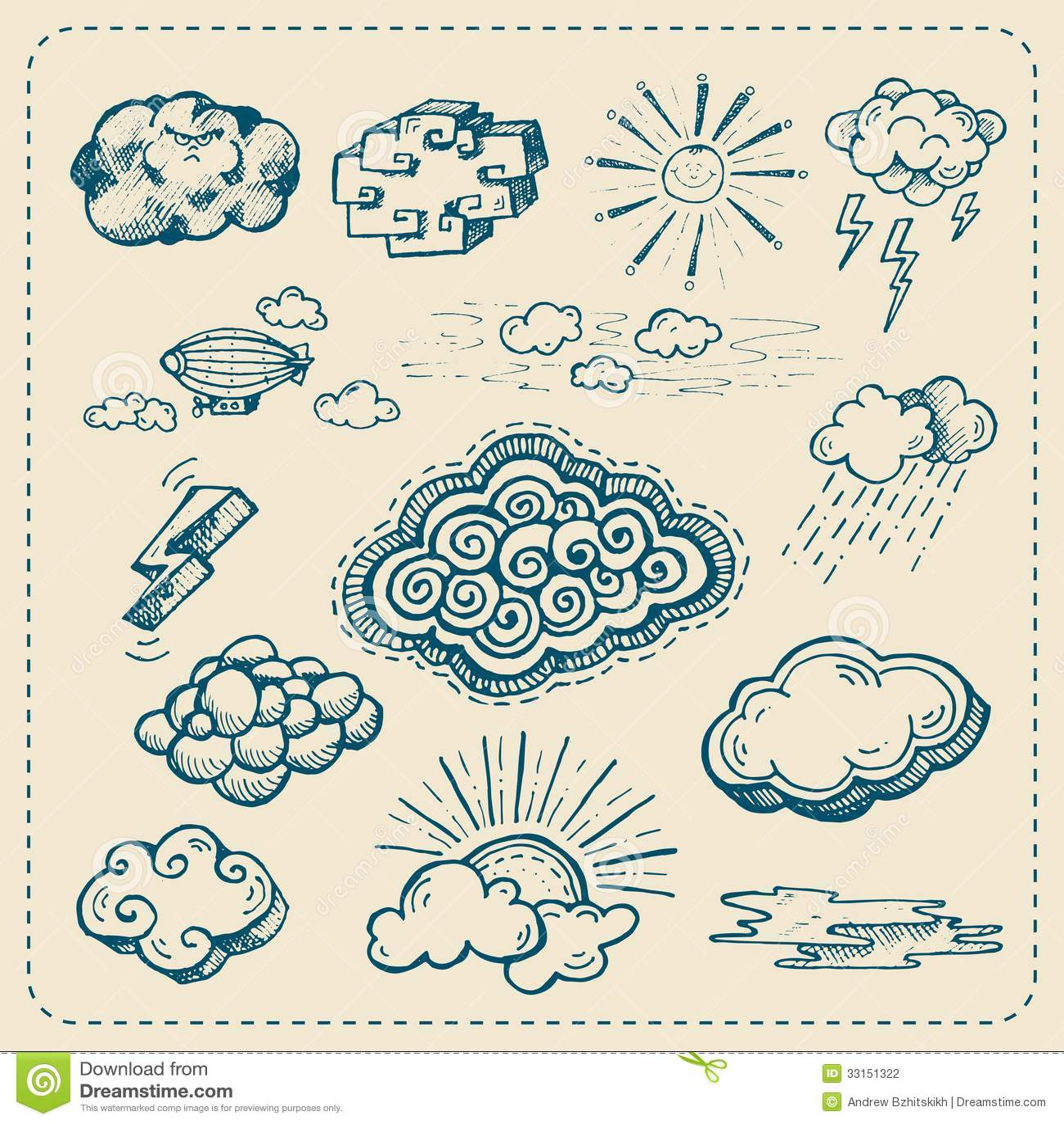 fluffy white clouds clip art