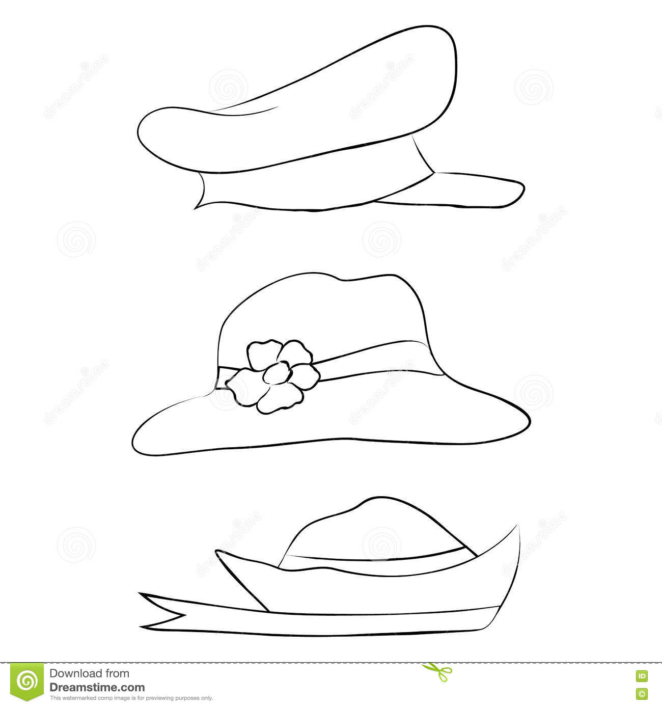 52e77c37a10dd Vector Collection Of Hats For Men
