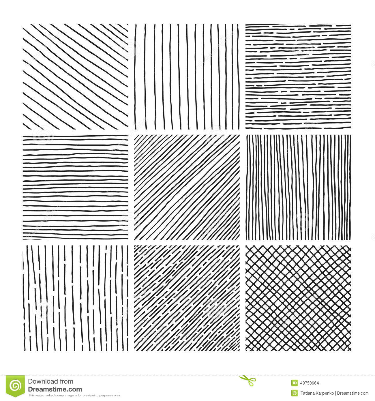 Vector Collection Ink Hand Drawn Hatch Texture Stock Vector