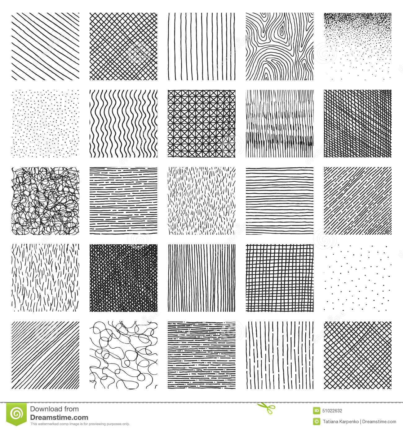 Vector Collection Ink Hand Drawn Hatch Texture Stock