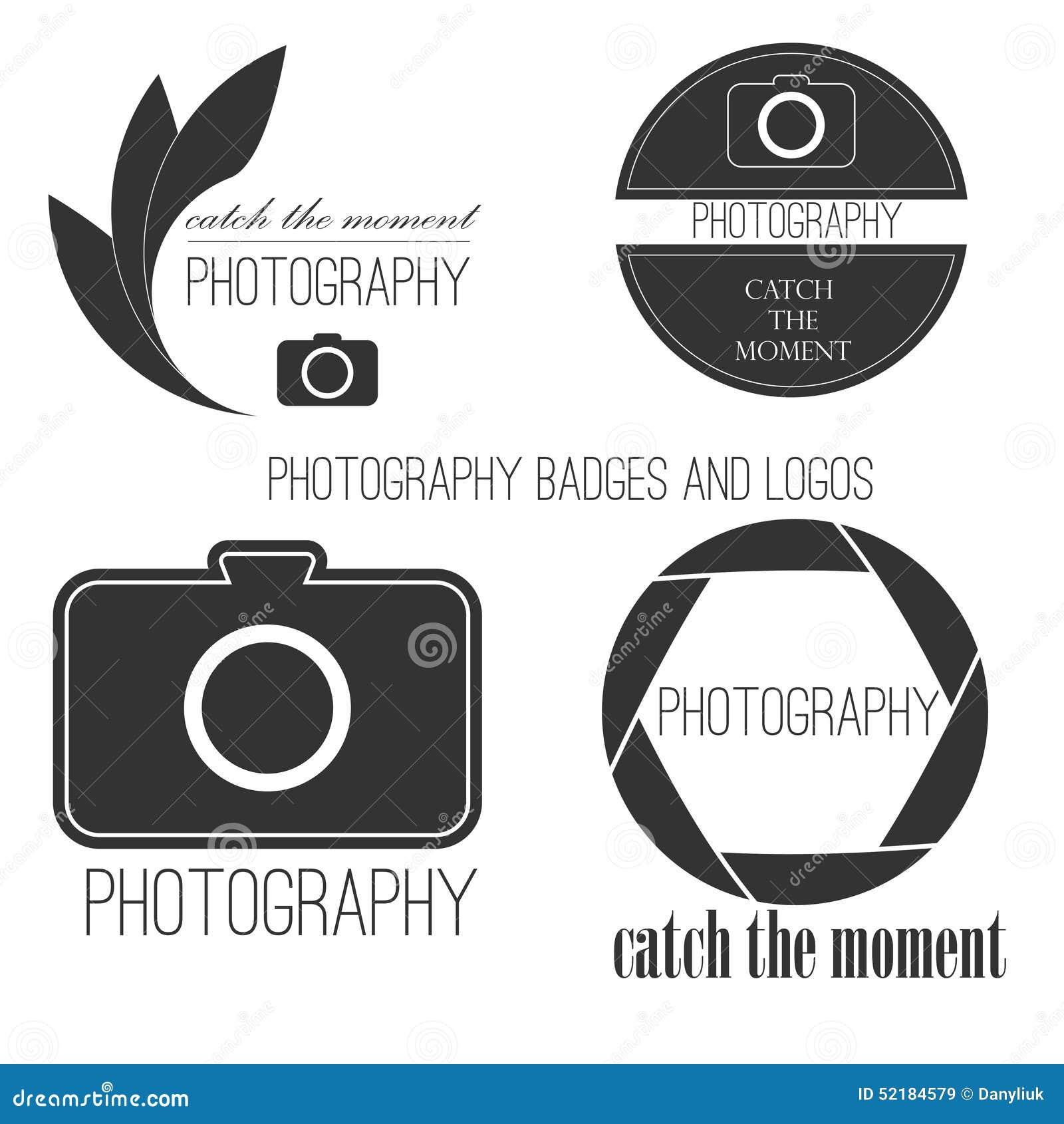 vector collection of photography logo templates stock vector
