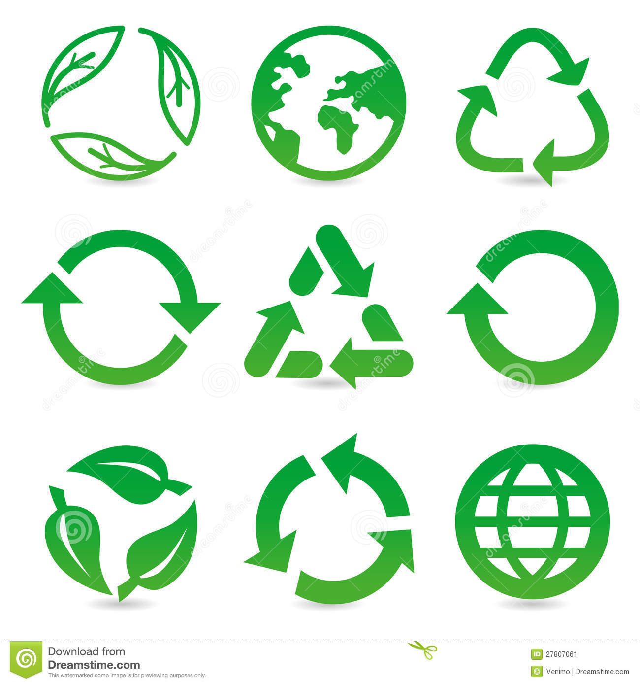 Vector collection with recycle signs and symbols stock vector vector collection with recycle signs and symbols buycottarizona Image collections