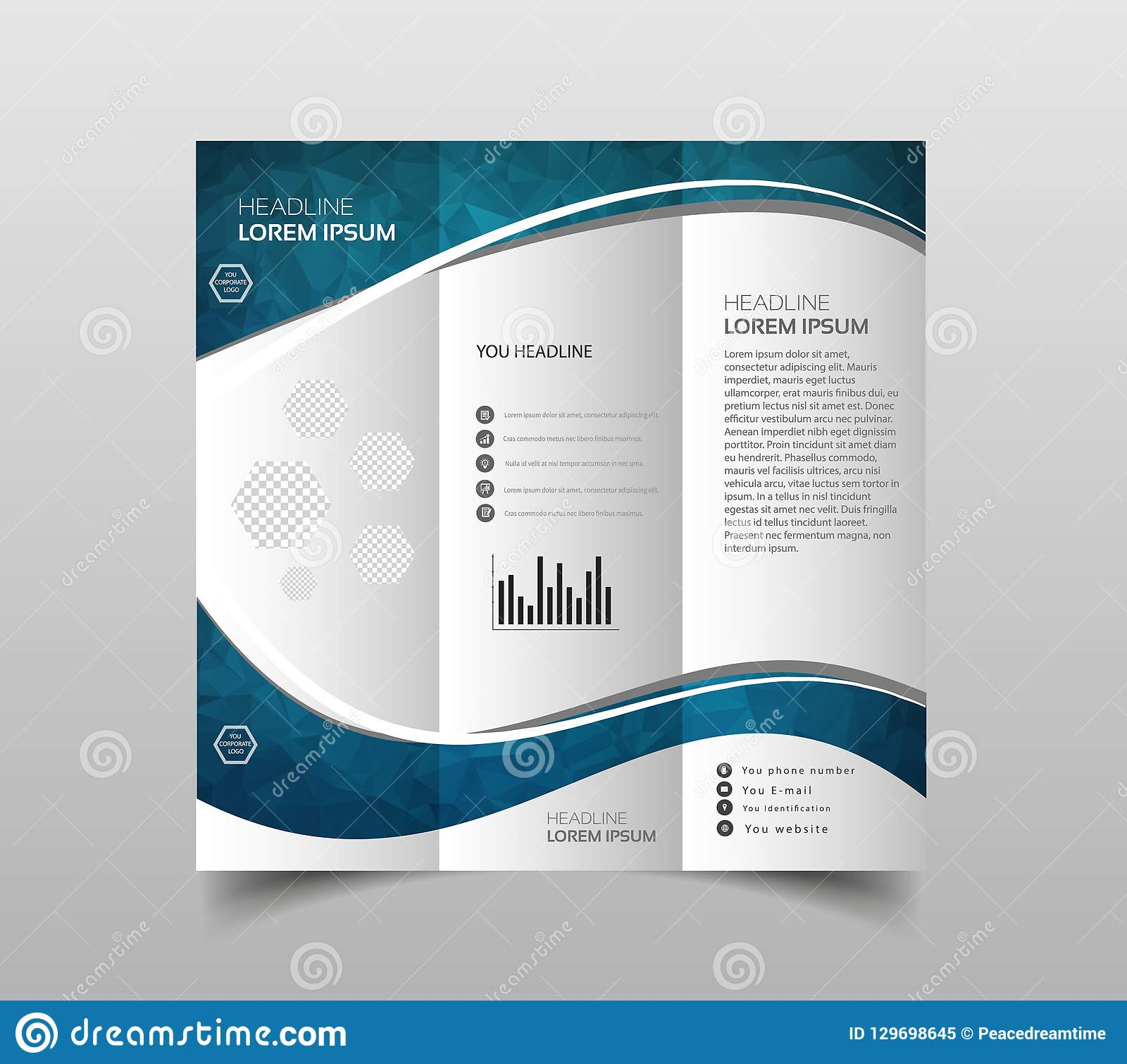 Modern Brochure Design | Vector Collection Of Tri Fold Brochure Design Templates With Modern