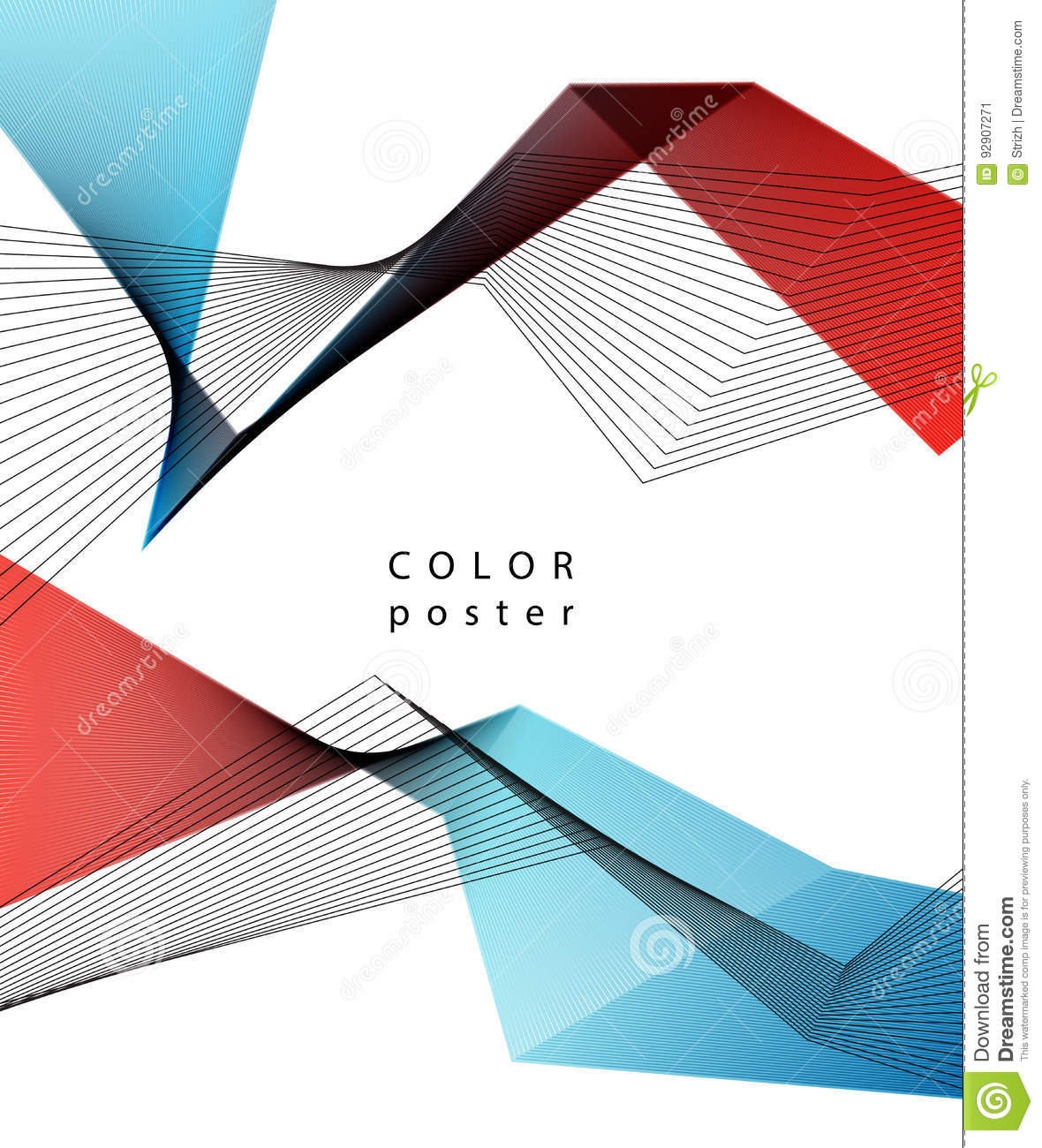 Vector Color Abstract Geometric Banner With Triangle  Stock
