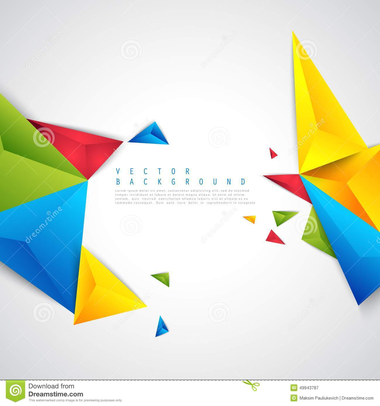 abstract polygonal colorful background - photo #47