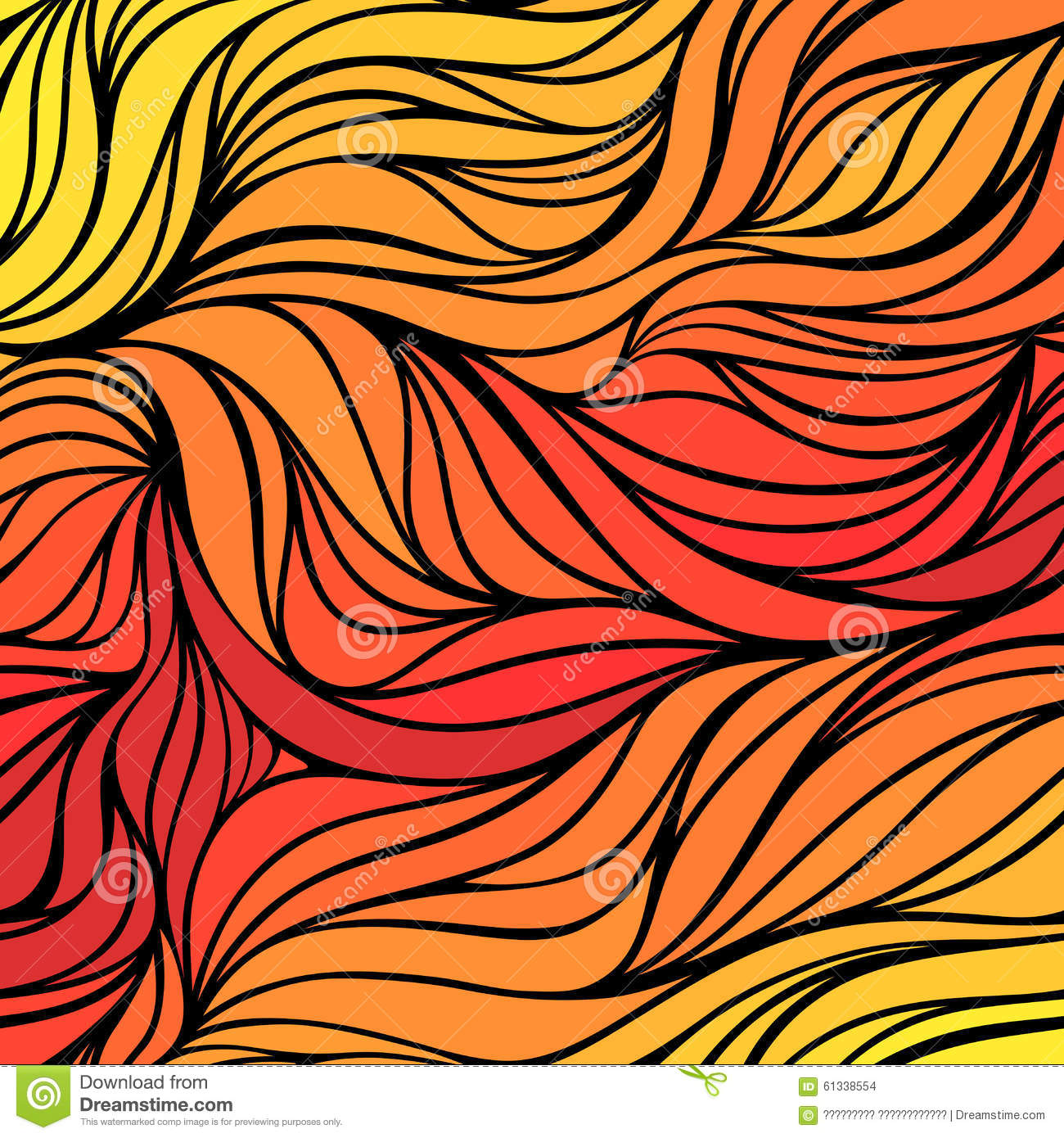 Drawing Lines With Gradients : Vector color hand drawing wave sunny background gradient