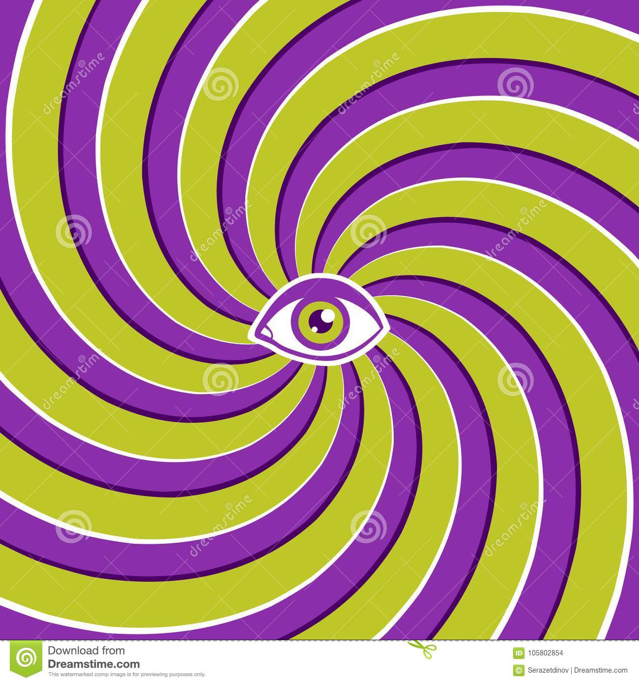 Optical illusion with eye