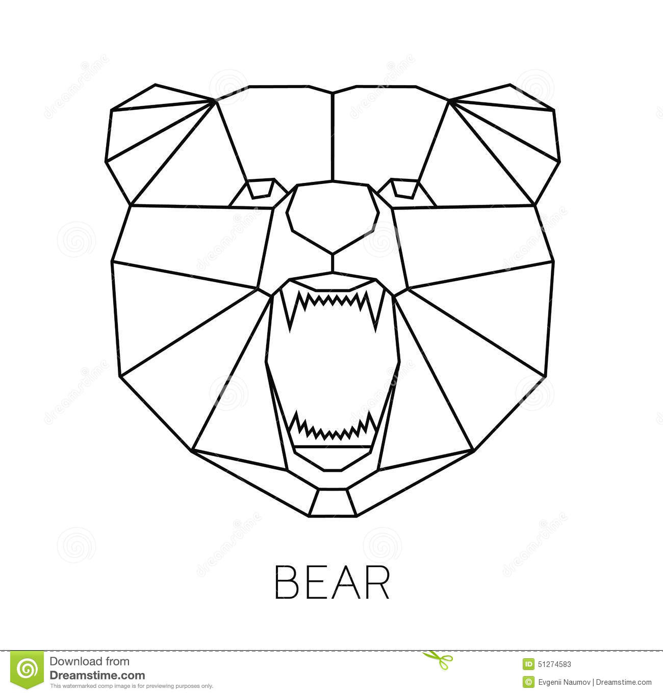 Vector color illustration with geometric bear of stock vector vector color illustration with geometric bear of jeuxipadfo Gallery