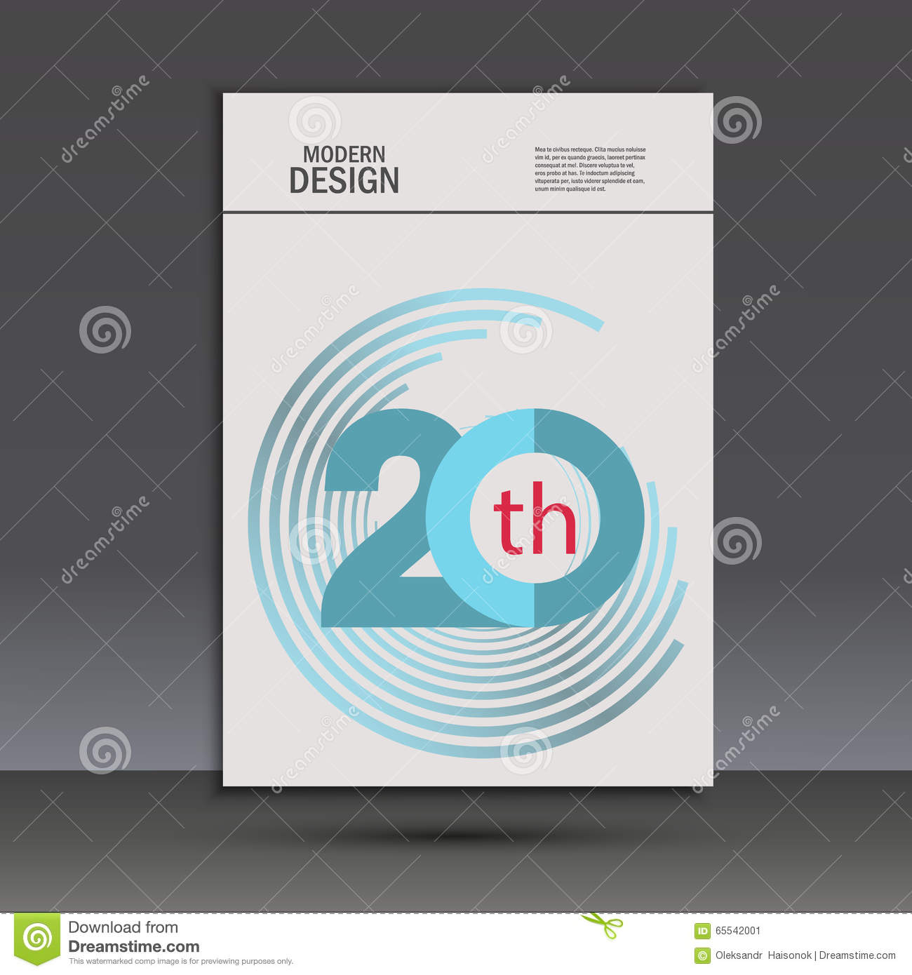 Color Line Design : Vector color line twirl design cover template stock