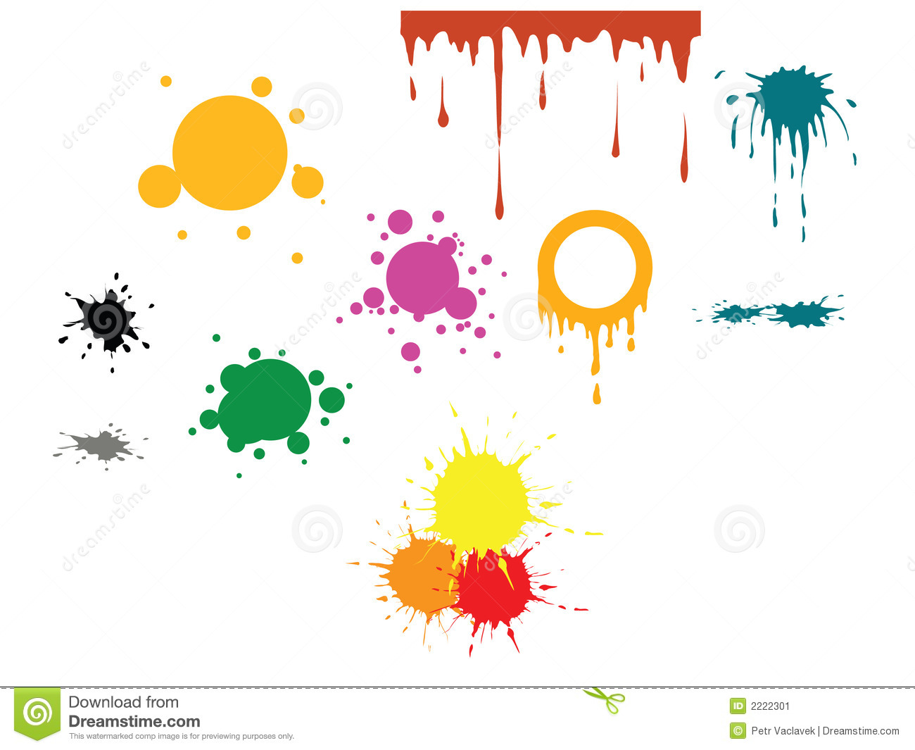 Vector spots - various spots and various colors.