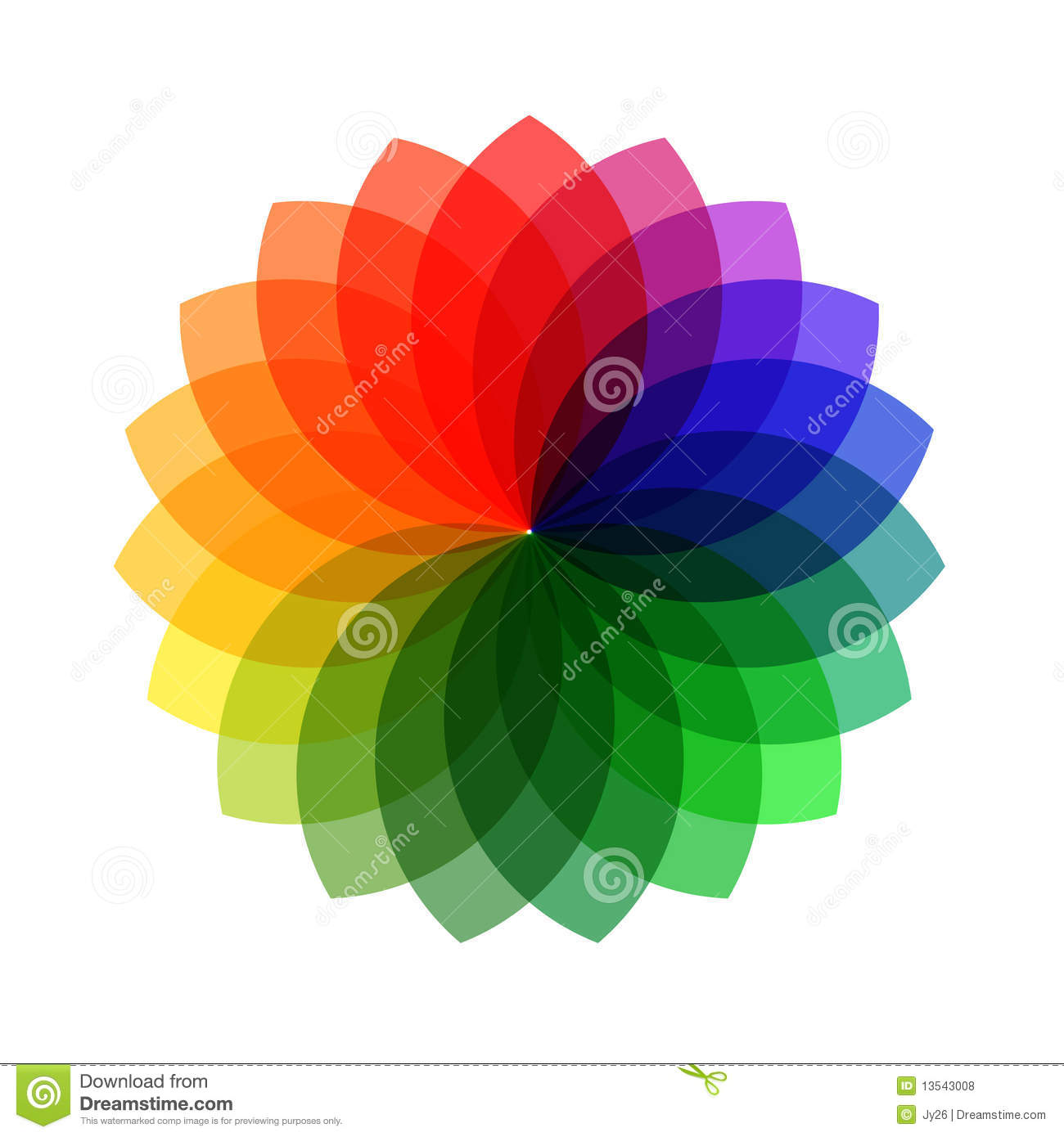 Vector Color Wheel Stock Vector Illustration Of Template 13543008