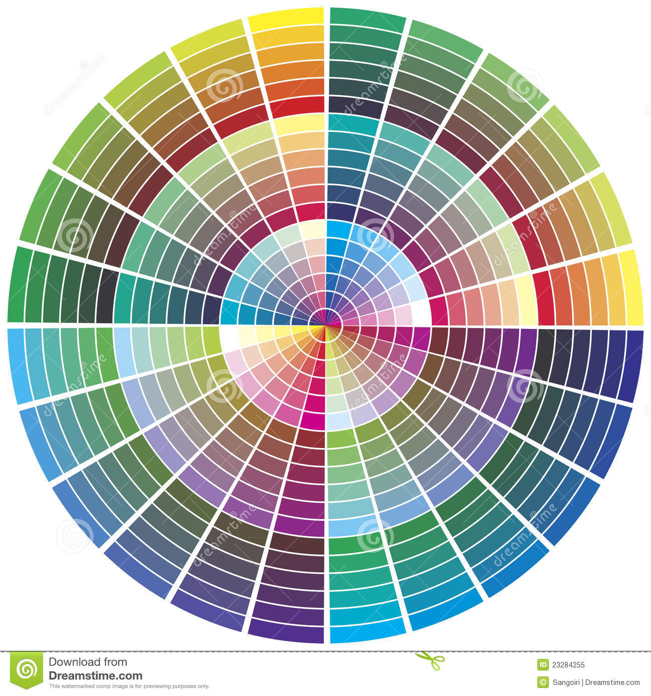 Vector Color Wheel Stock Vector. Illustration Of Profile