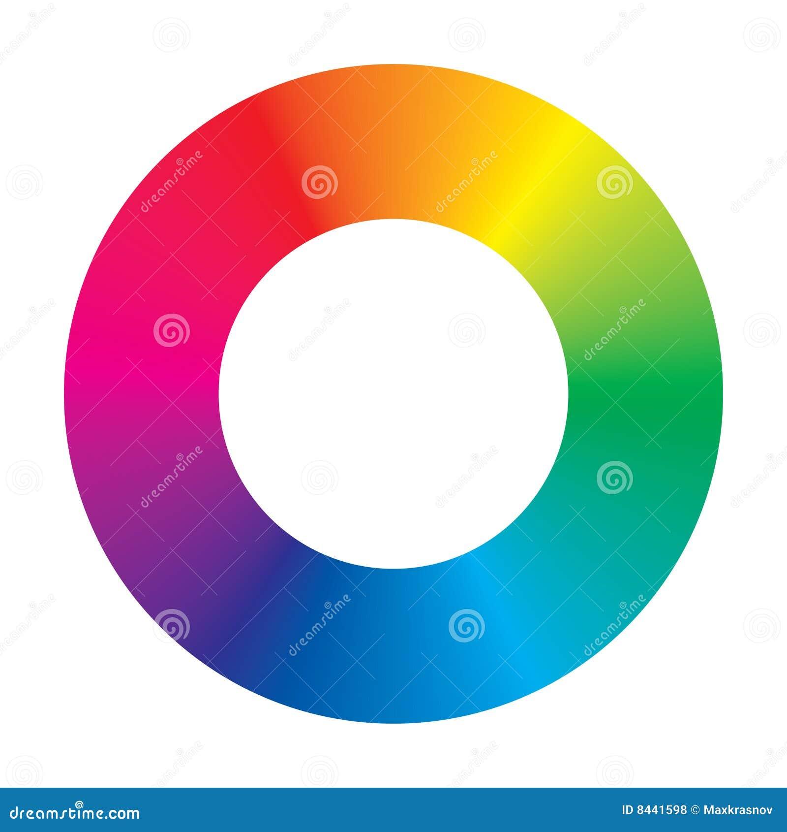 Vector Color Wheel Stock Vector Illustration Of Spiral 8441598