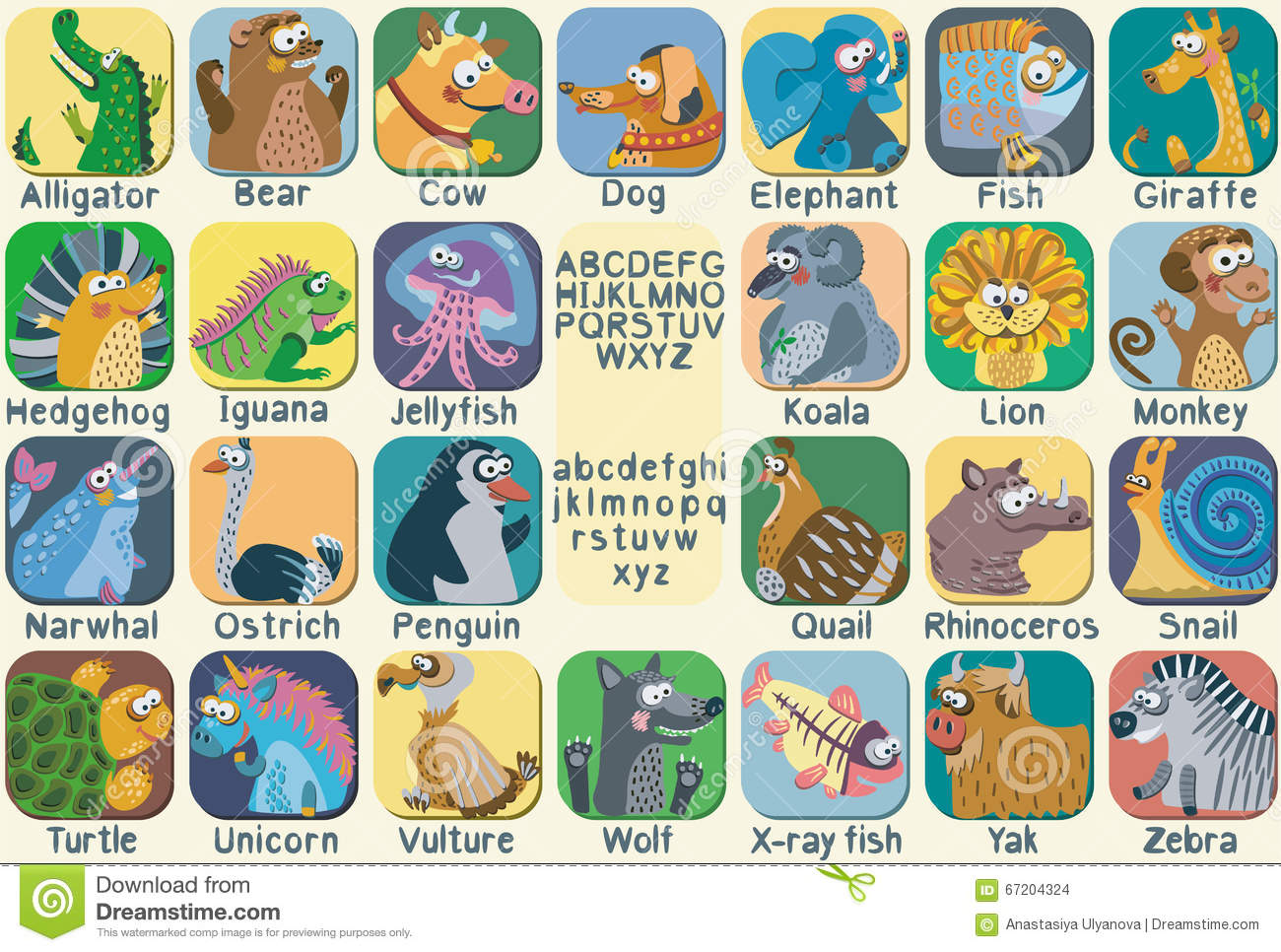 Image of: Abc Wild Illustration Vector Color Zoo Alphabet With Cute Animals Megapixl Vector Color Zoo Alphabet With Cute Animals Illustration 67204324