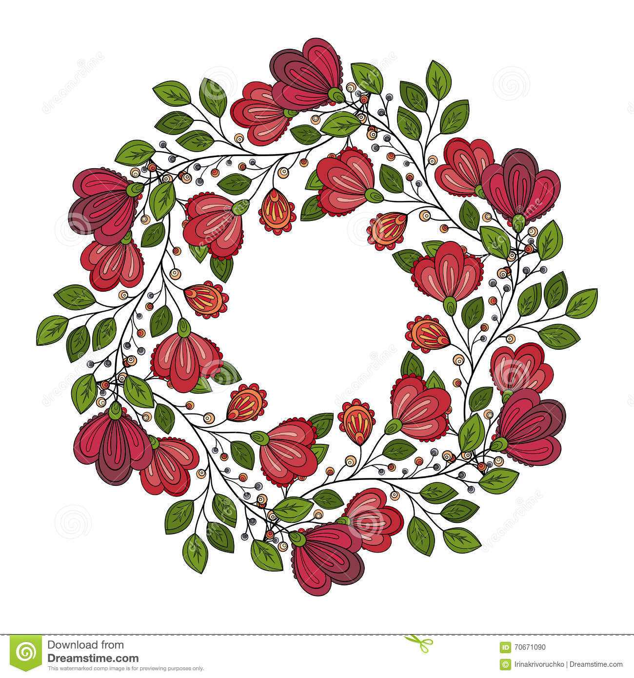Vector Colored Floral Background Stock Vector - Illustration of ...