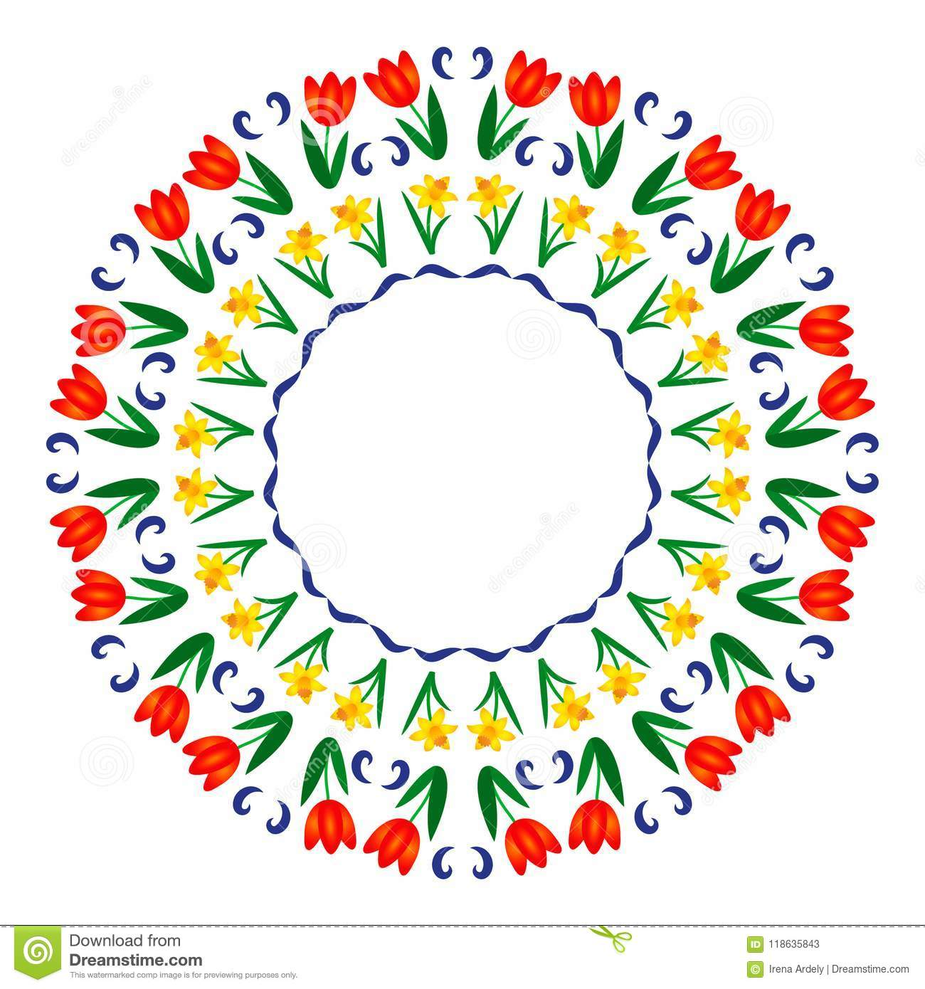 Download Vector Colored Round Summer Mandala With Fruit