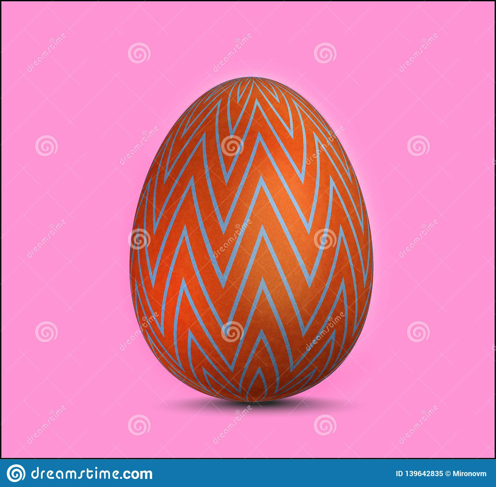 Vector single realistic animal easter colored egg