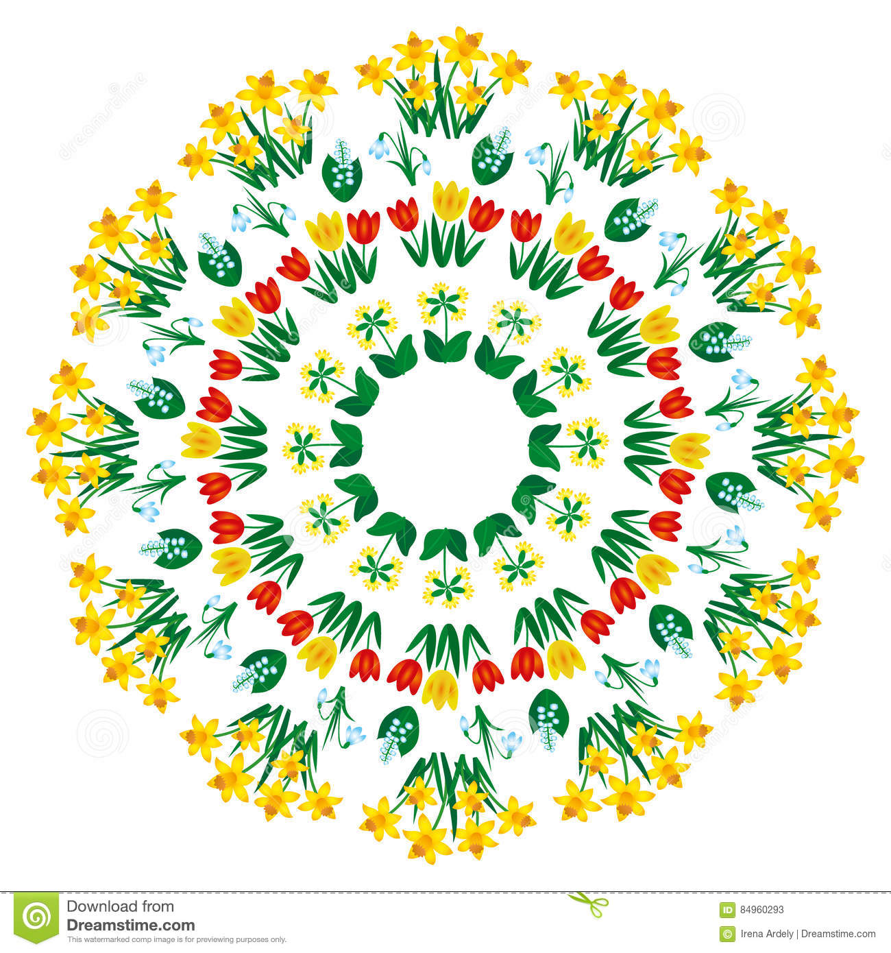 Vector Mandala With Flowers Pattern. Adult Coloring Book Page ...