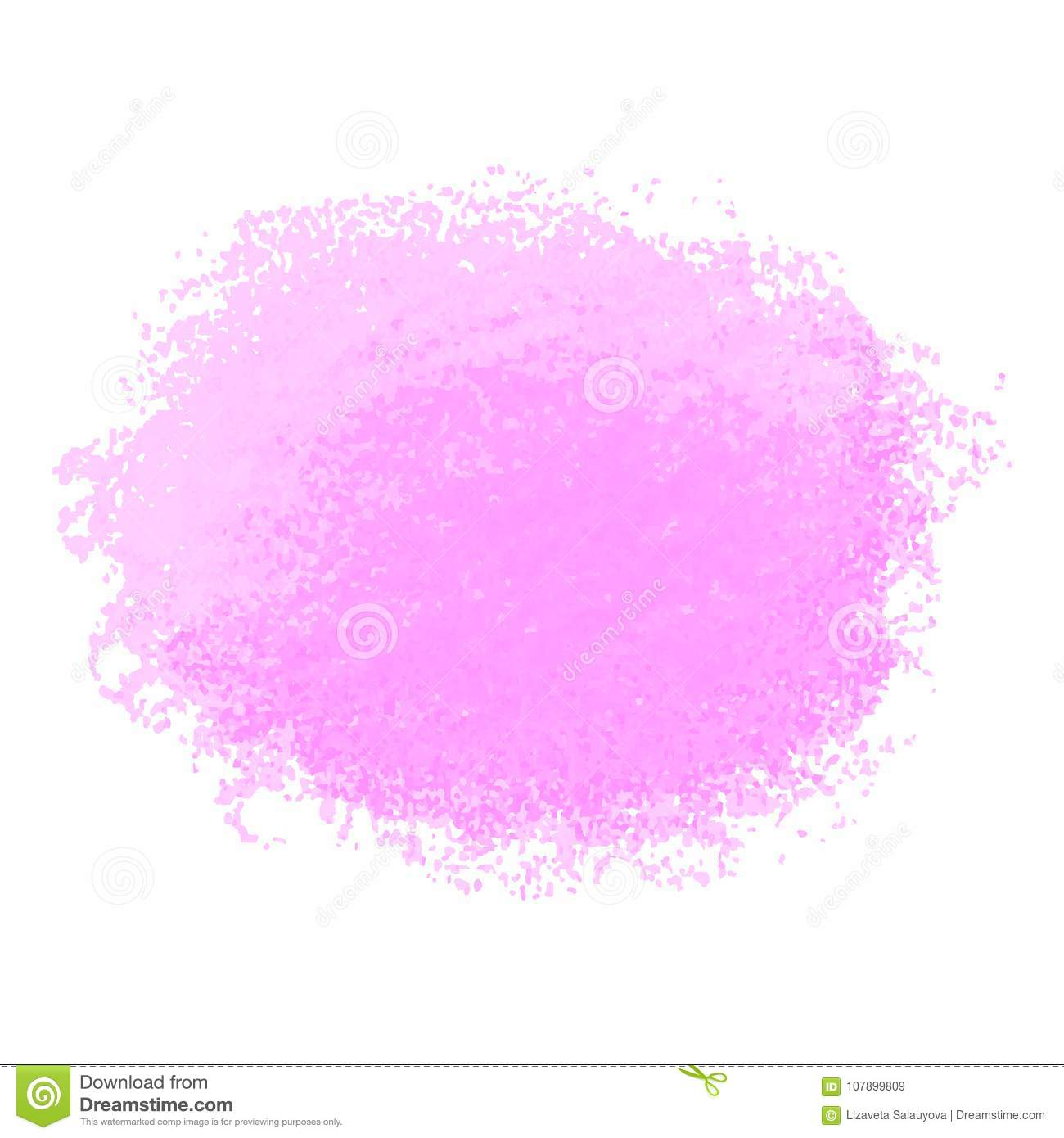 pink crayon scribble texture stain isolated on white background